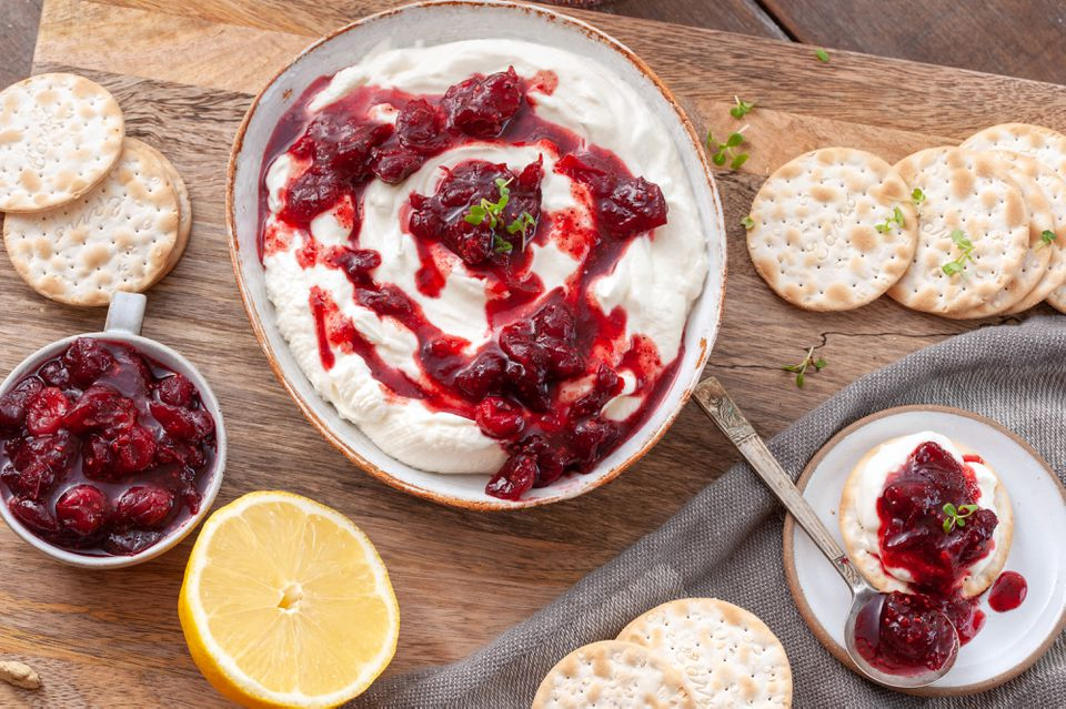 Cranberry labneh dip