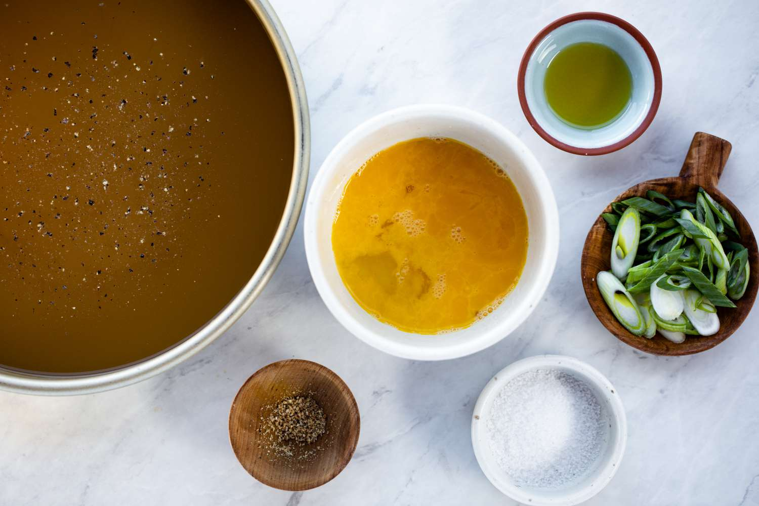 Chinese egg drop soup ingredients