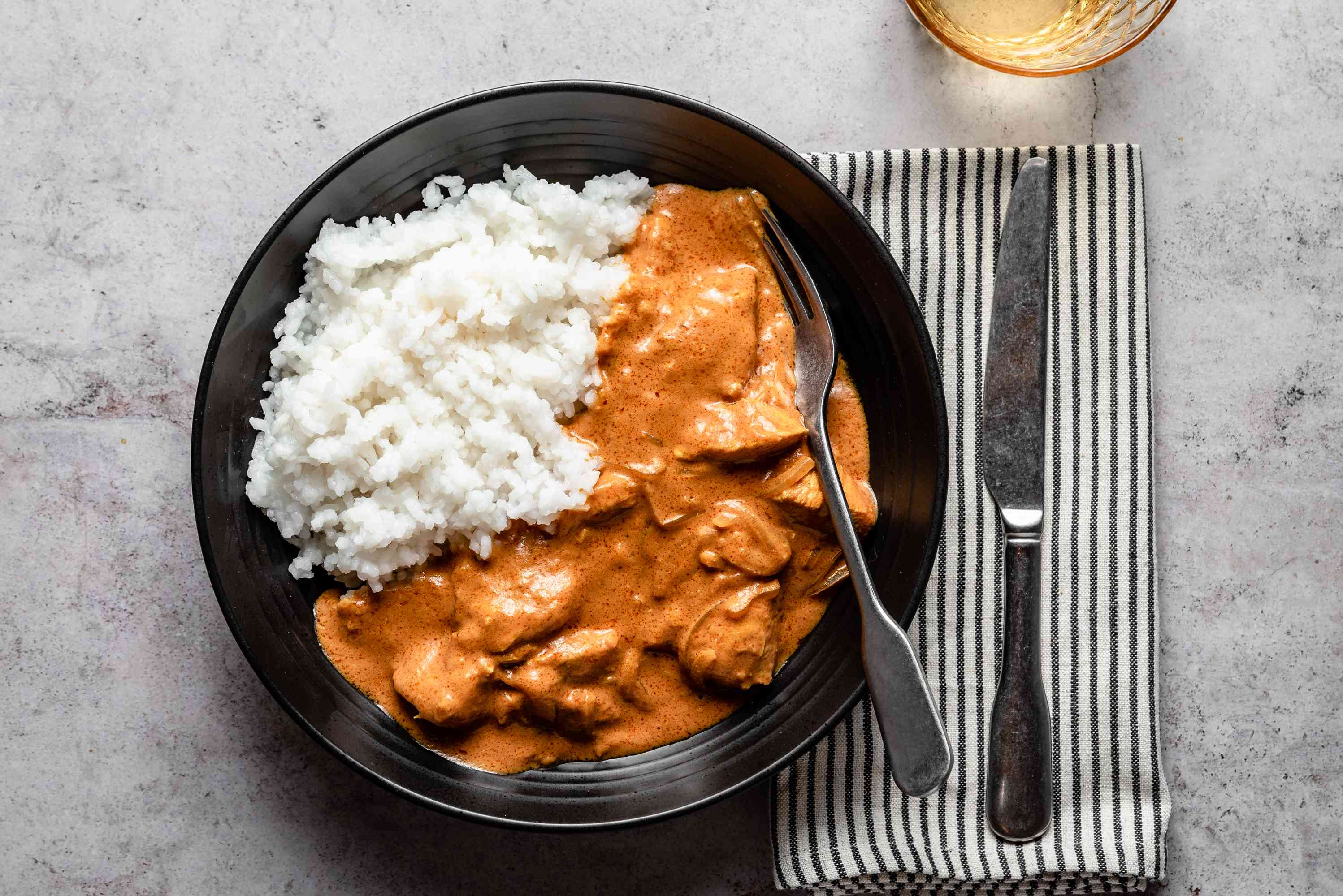 Butter Chicken, served with rice