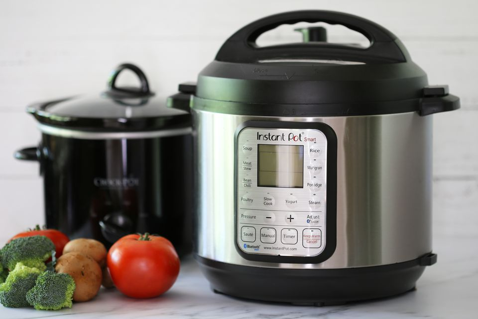 instant pot pressure cooker and crock pot or slow cooker