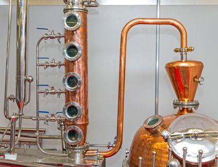 Copper Still at a Serbian Distillery