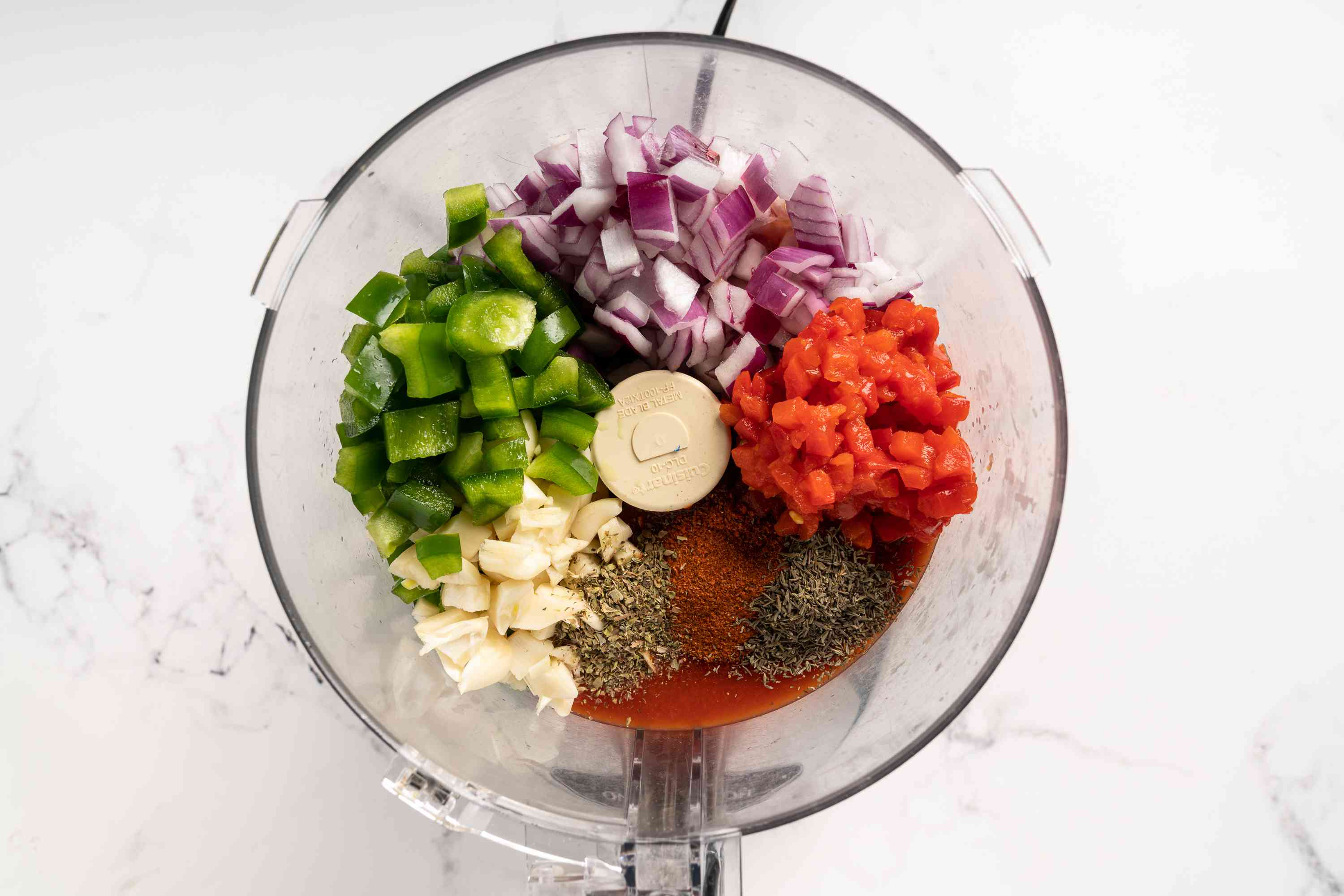 Chop and blend all the ingredients in a food processor