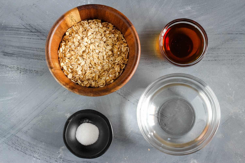 Ingredients for traditional Scottish porridge