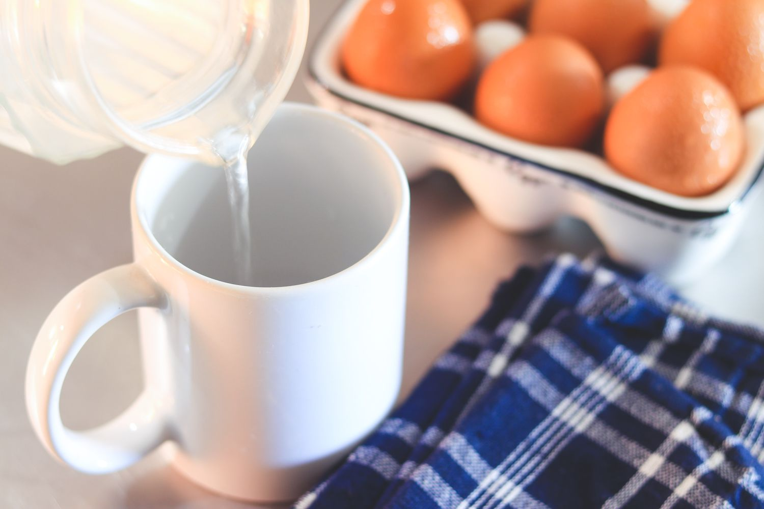 Add Water To Microwavable Cup