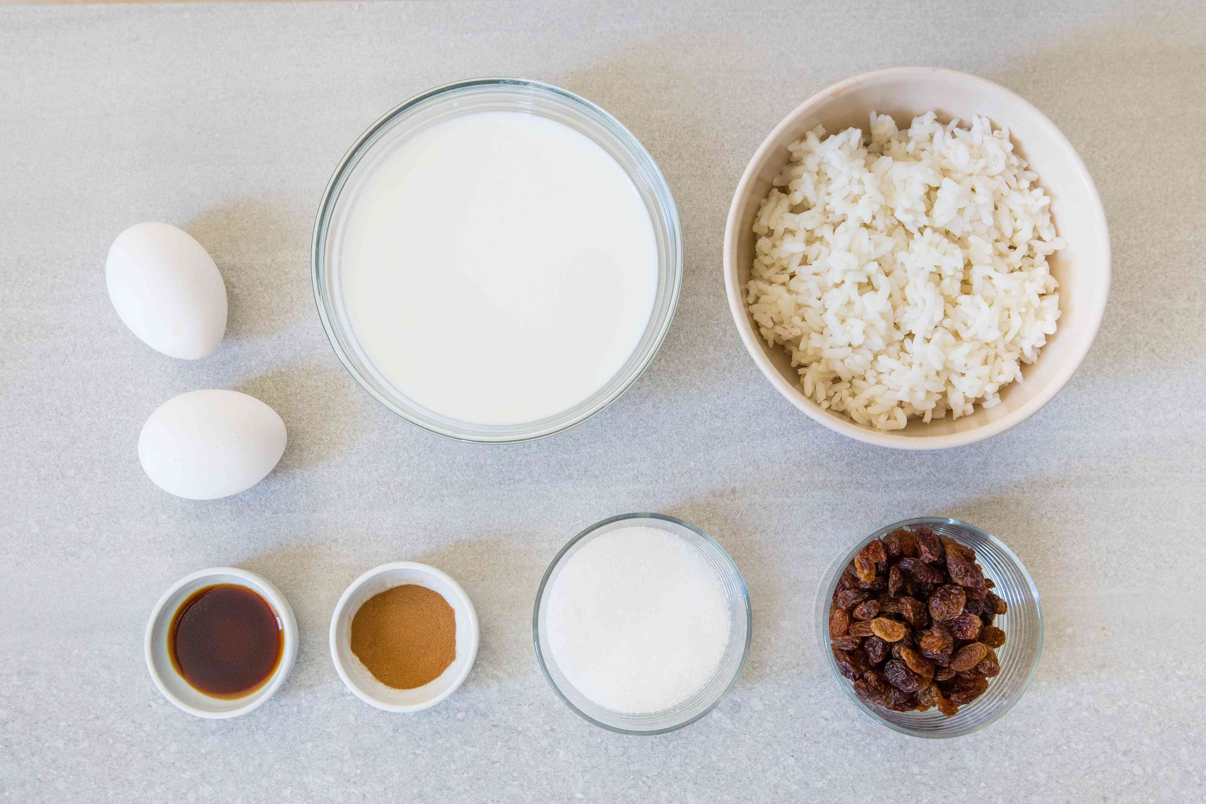 Rice Pudding With Leftover Rice ingredients