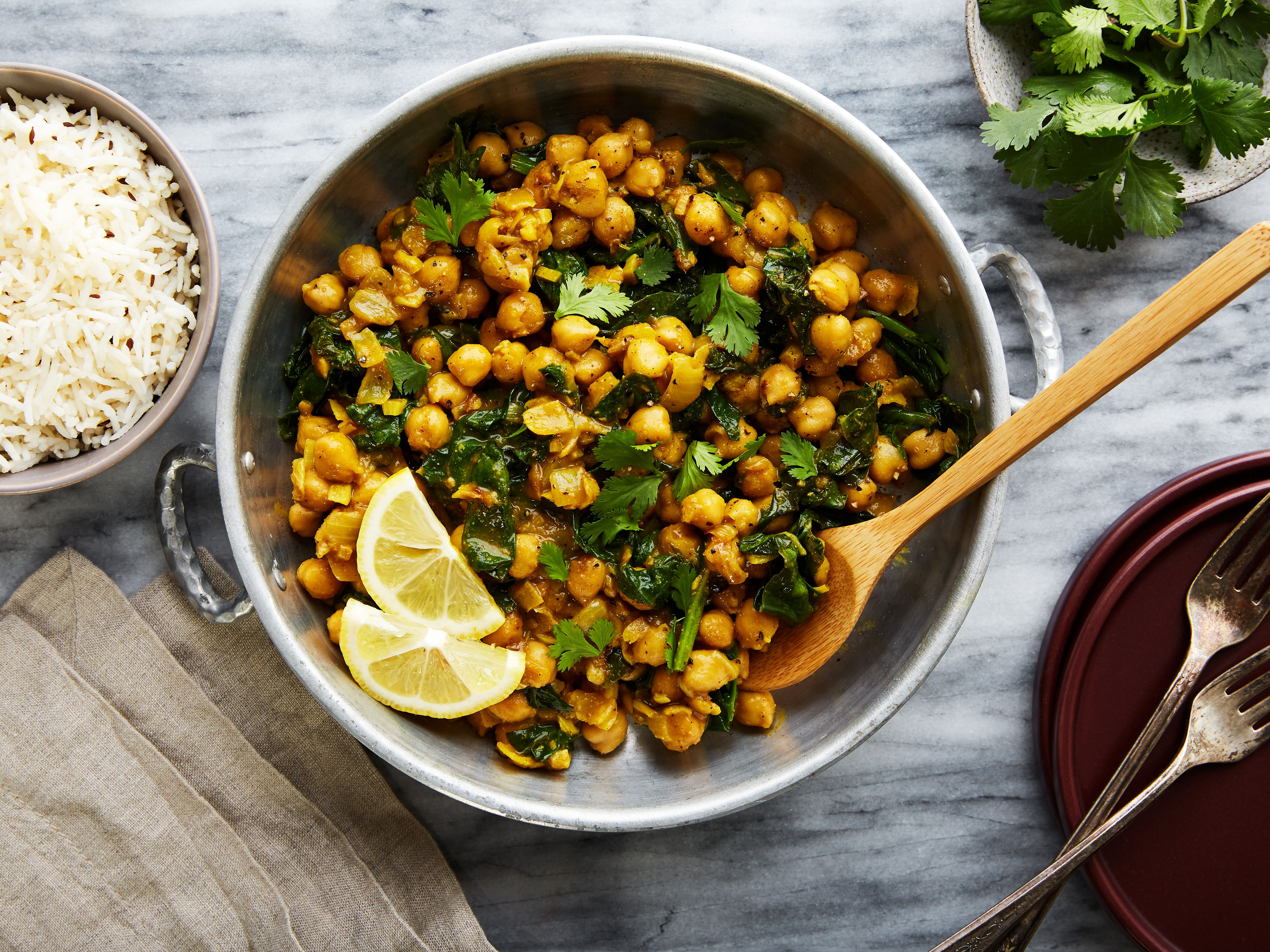Vegetarian Chana Masala With Spinach