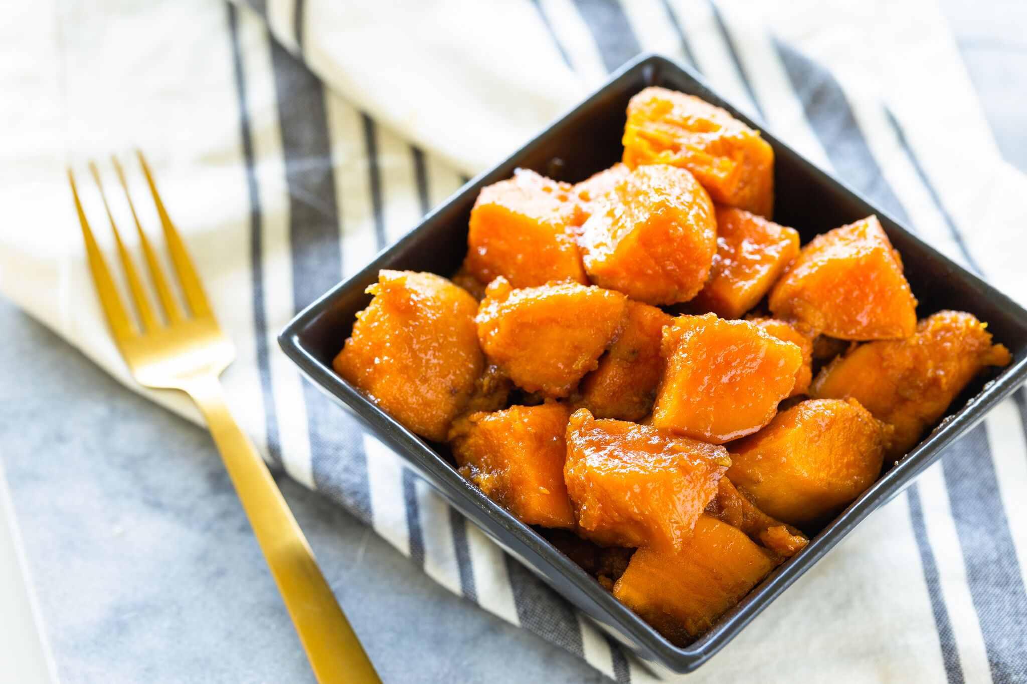 Brown Sugar Cadied Sweet Potatoes