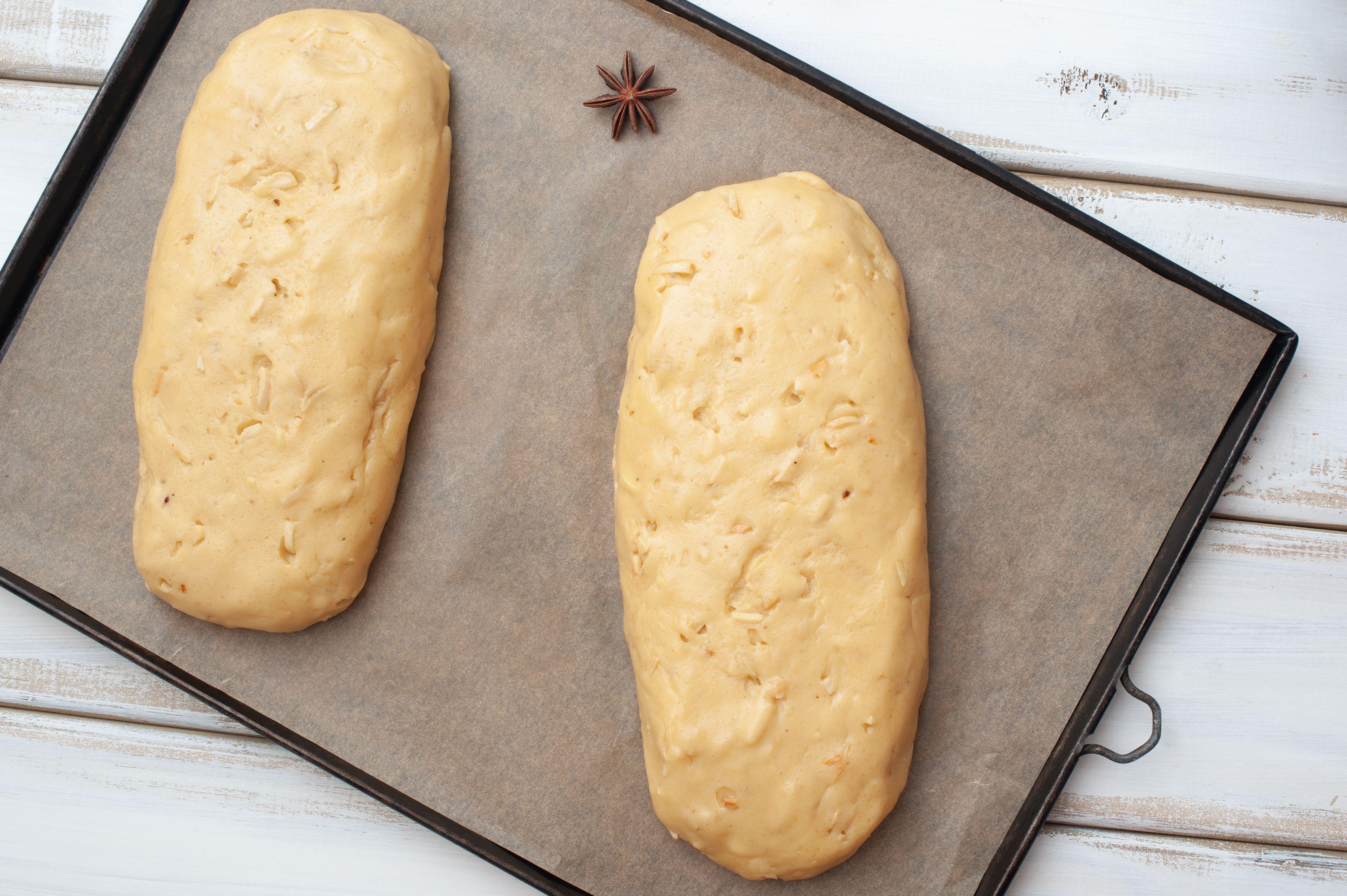 Divide dough in half