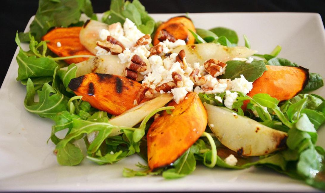 Grilled Pear and Sweet Potato Salad
