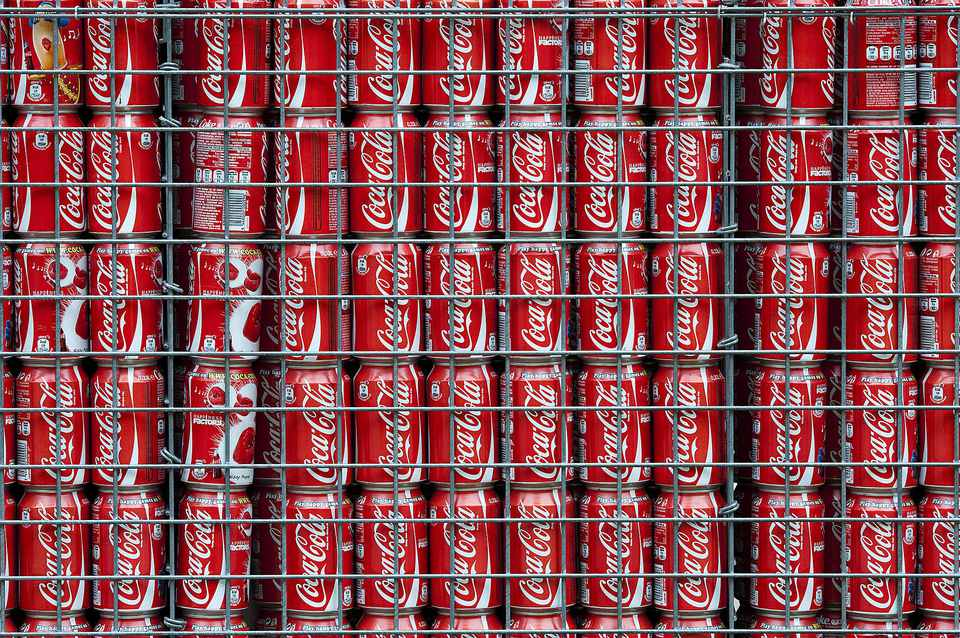 Coca Cola Can Gabion Wall