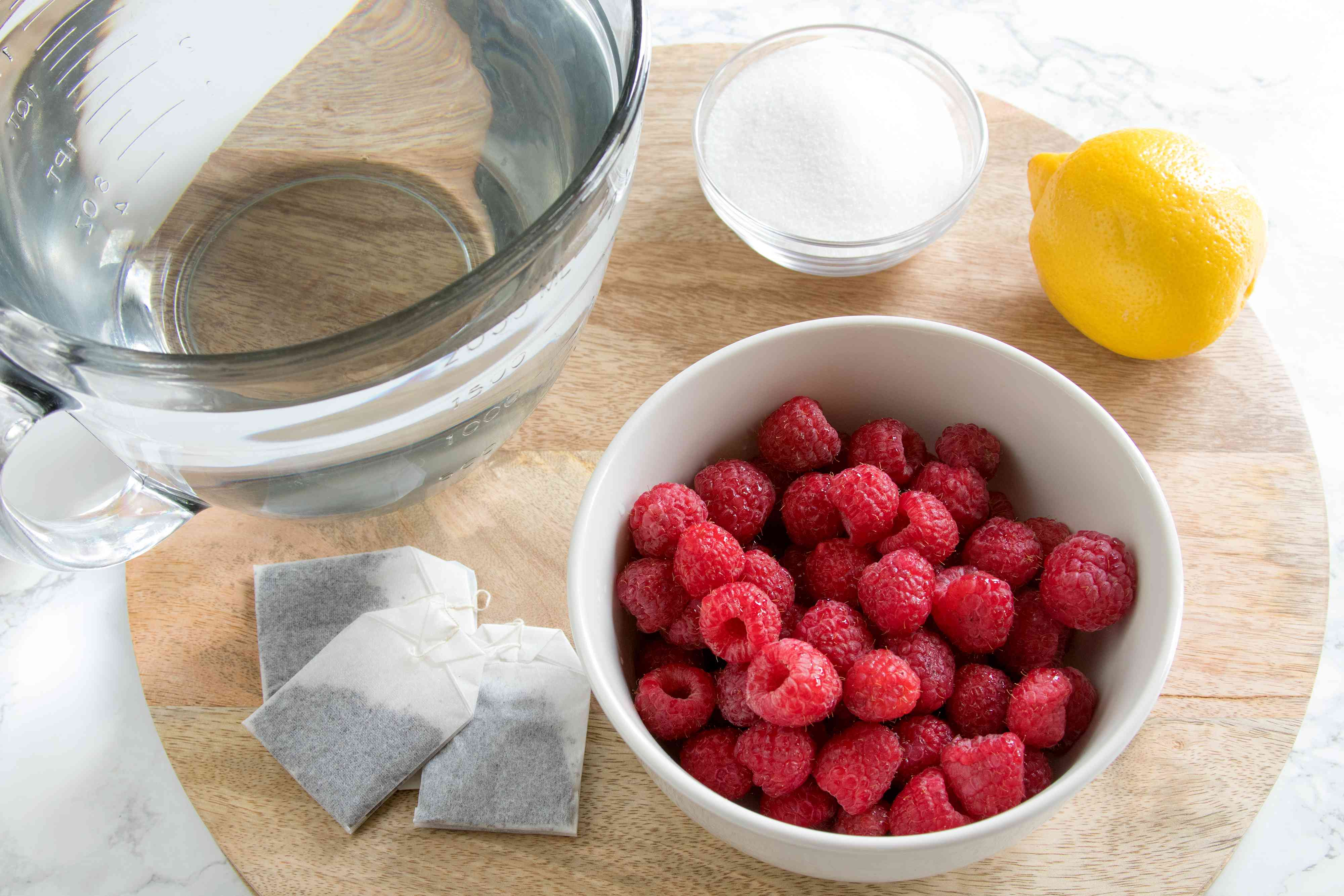 Ingredients for Raspberry Iced Tea