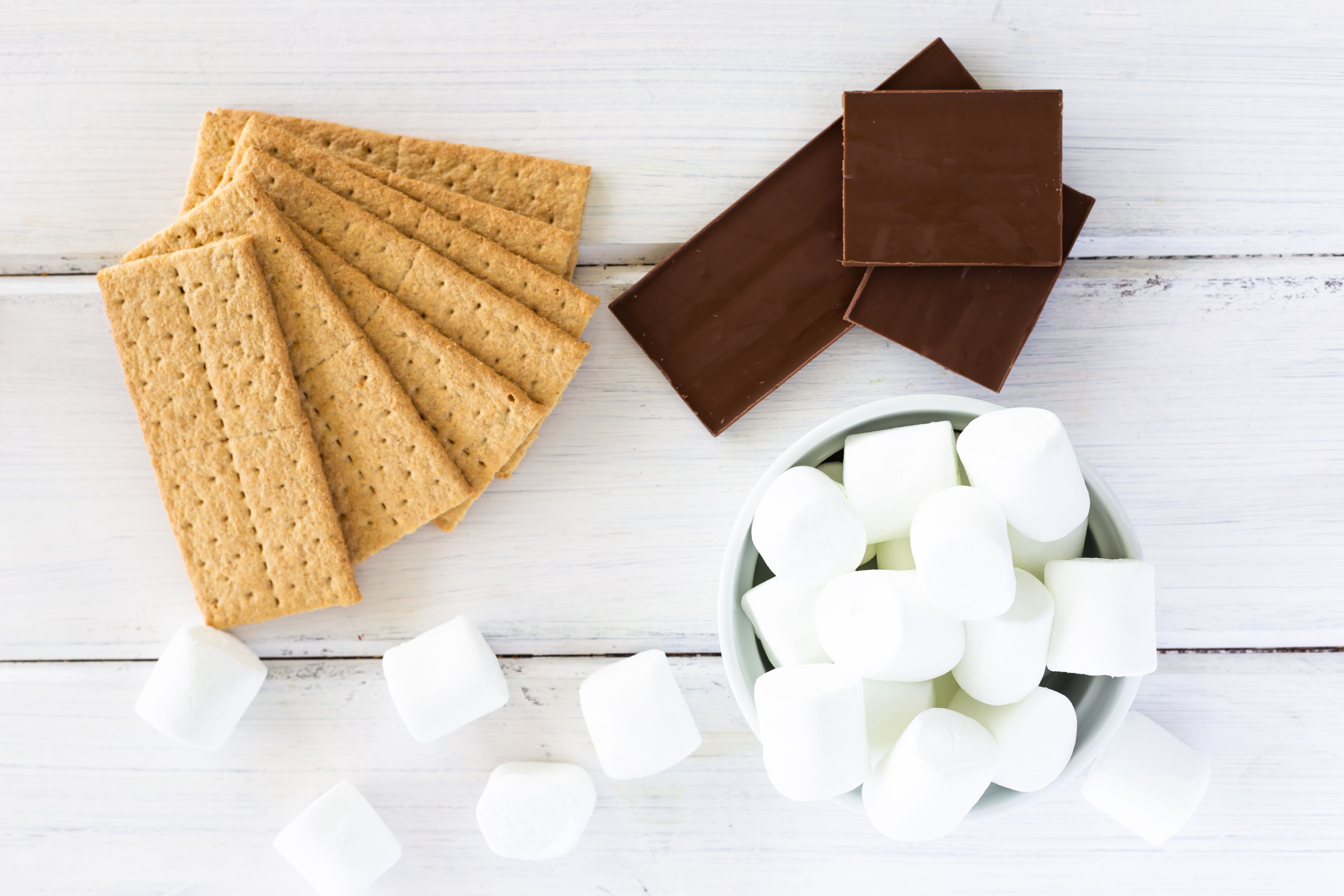 Ingredients for Baked S'mores