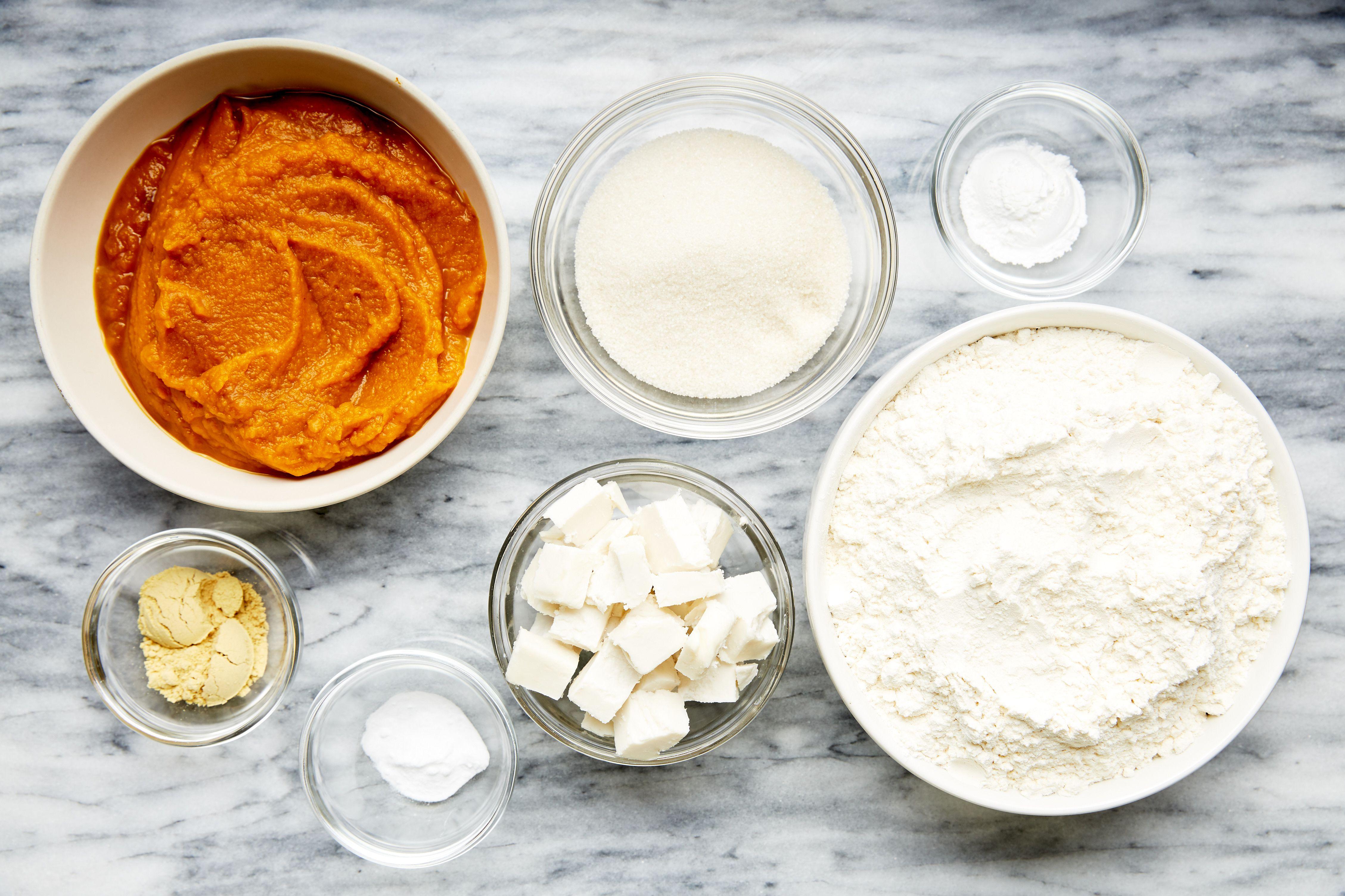 Ingredients for vegan pumpkin scones