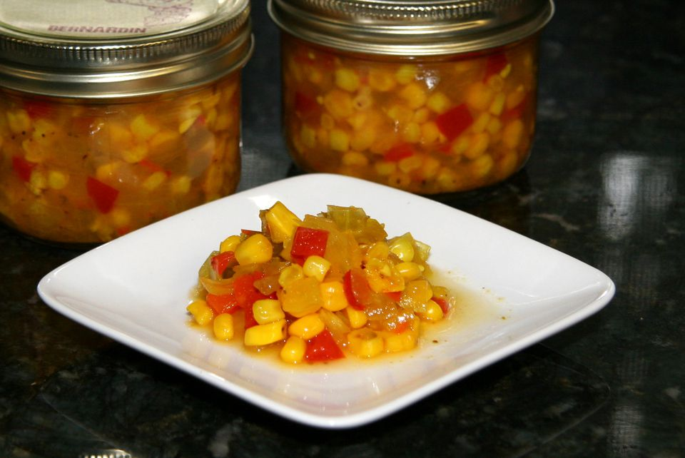 sweet and hot corn relish