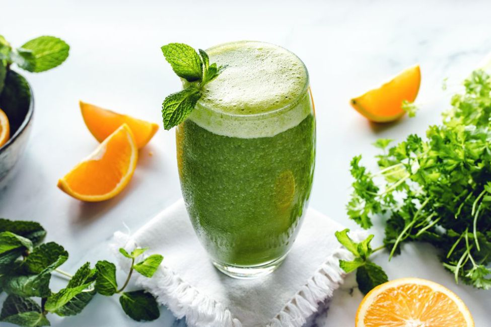 Raw Food Green Kale Smoothie