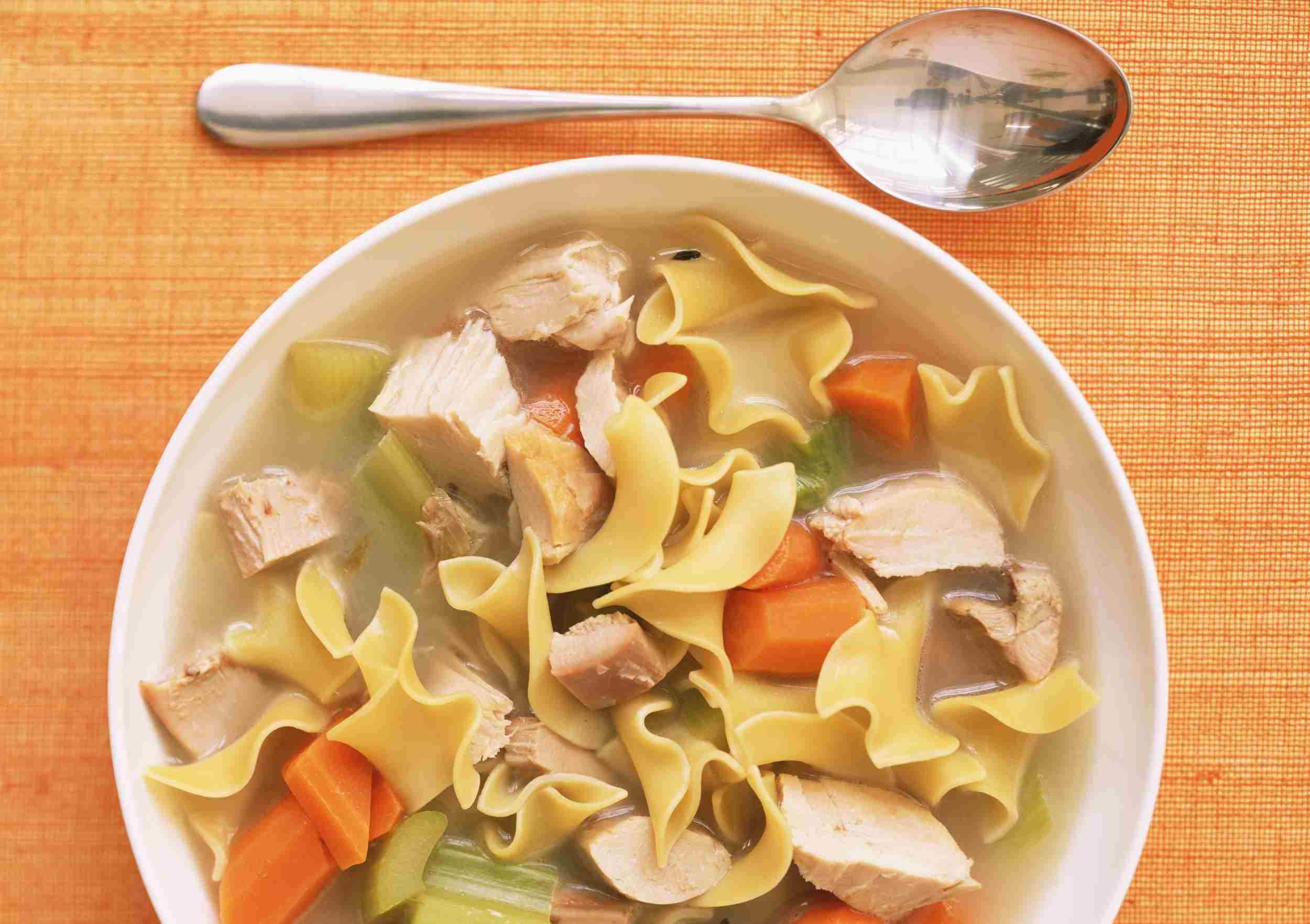 Turkey Noodle Soup Recipe Using Leftover Turkey Carcass