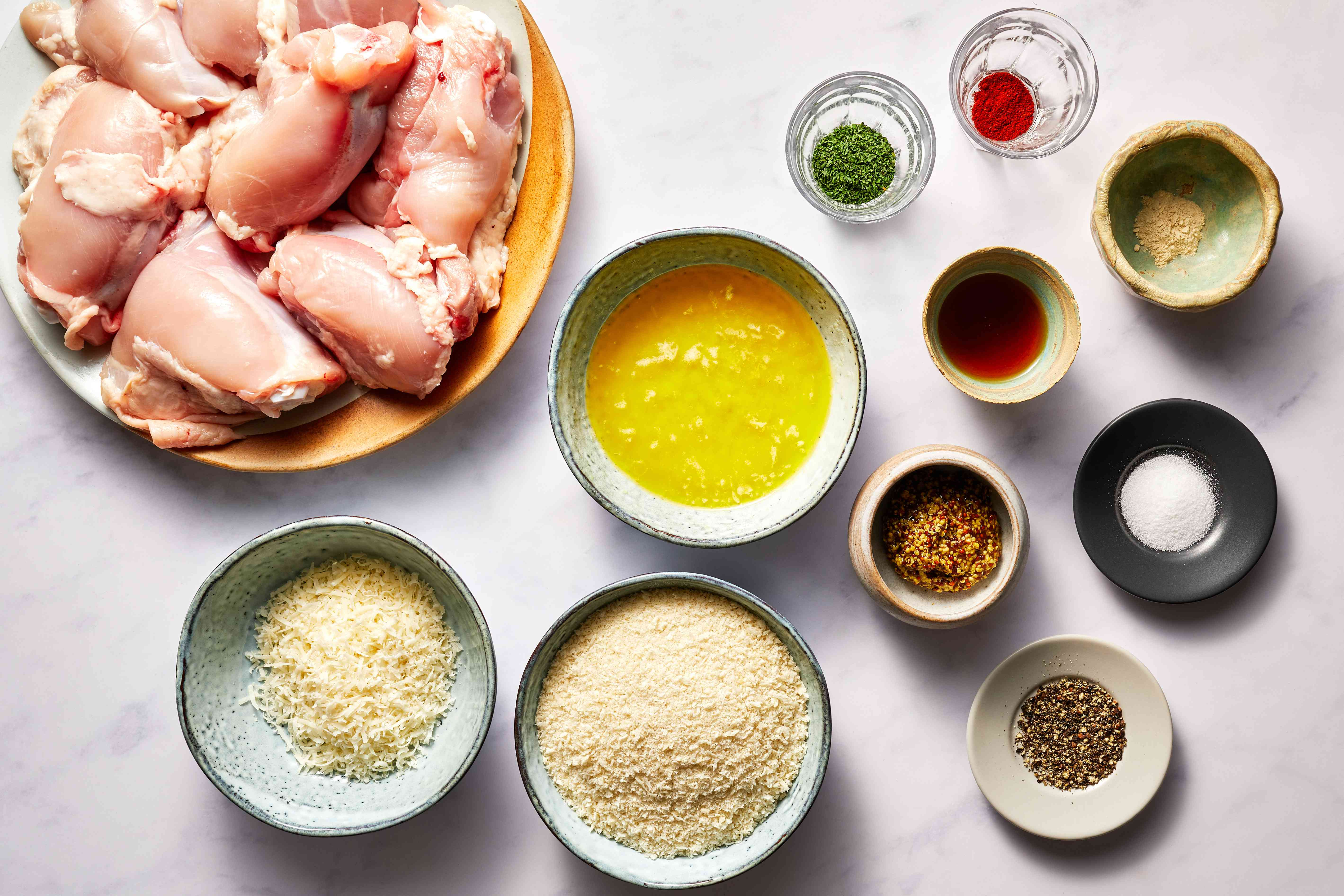 Ingredients for oven baked chicken thighs