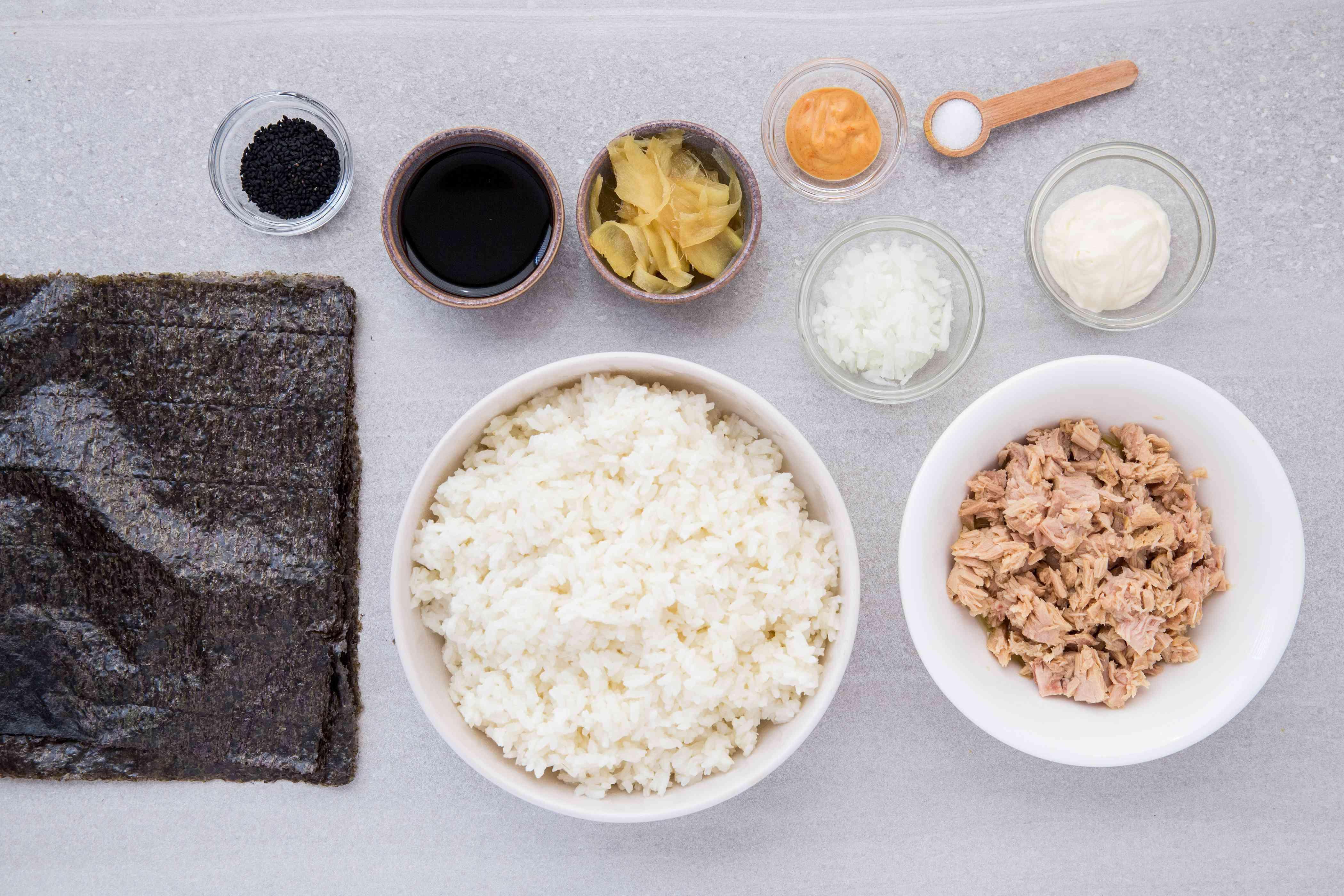 Tuna Salad Sushi Roll ingredients