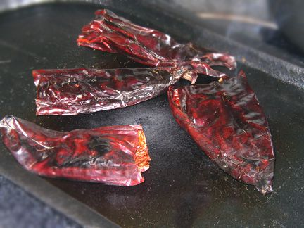 Chiles on a Griddle
