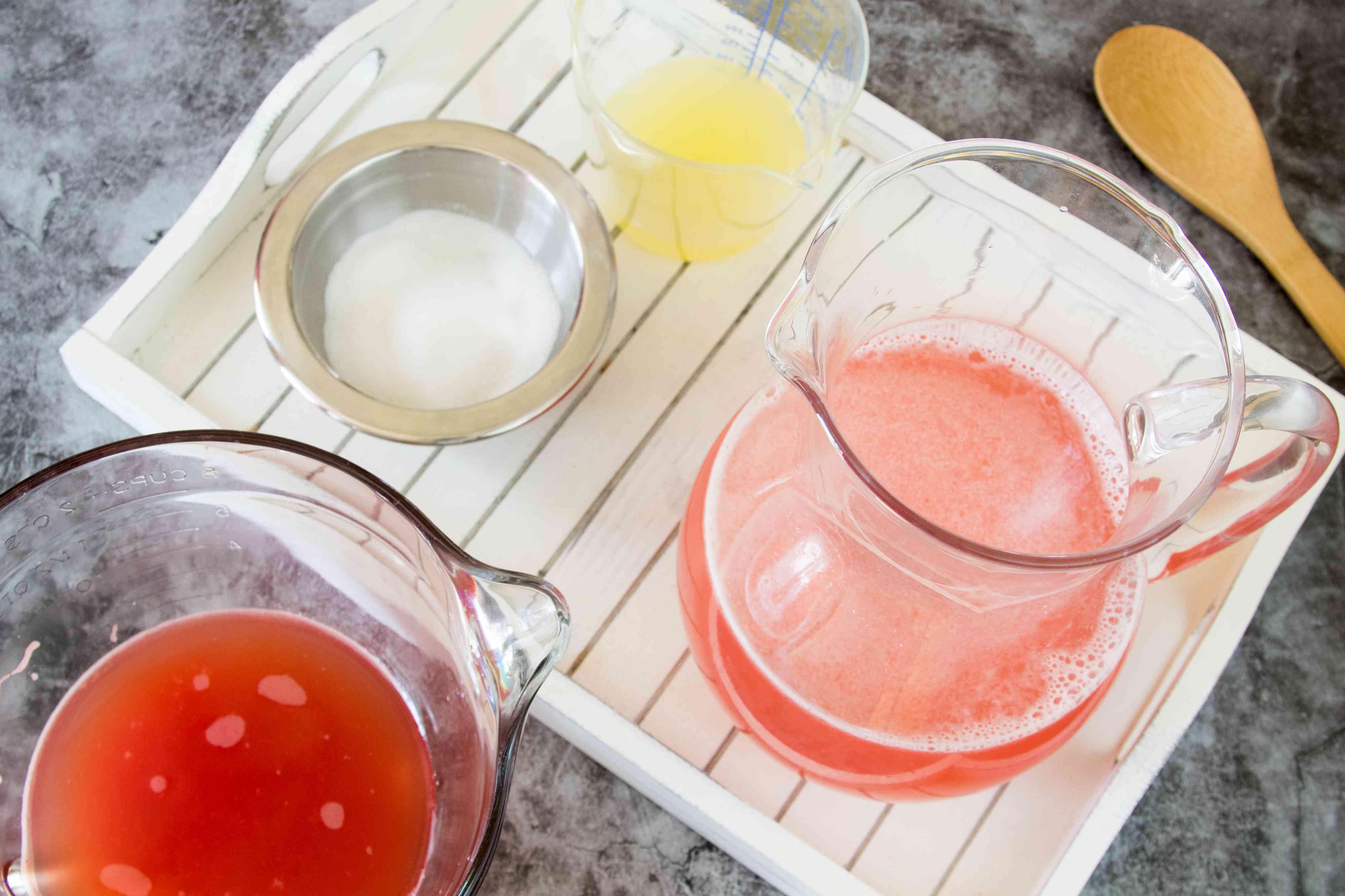 Mixing Fresh Watermelon Lemonade