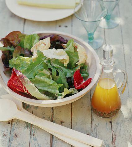 Salad with Italian vinaigrette