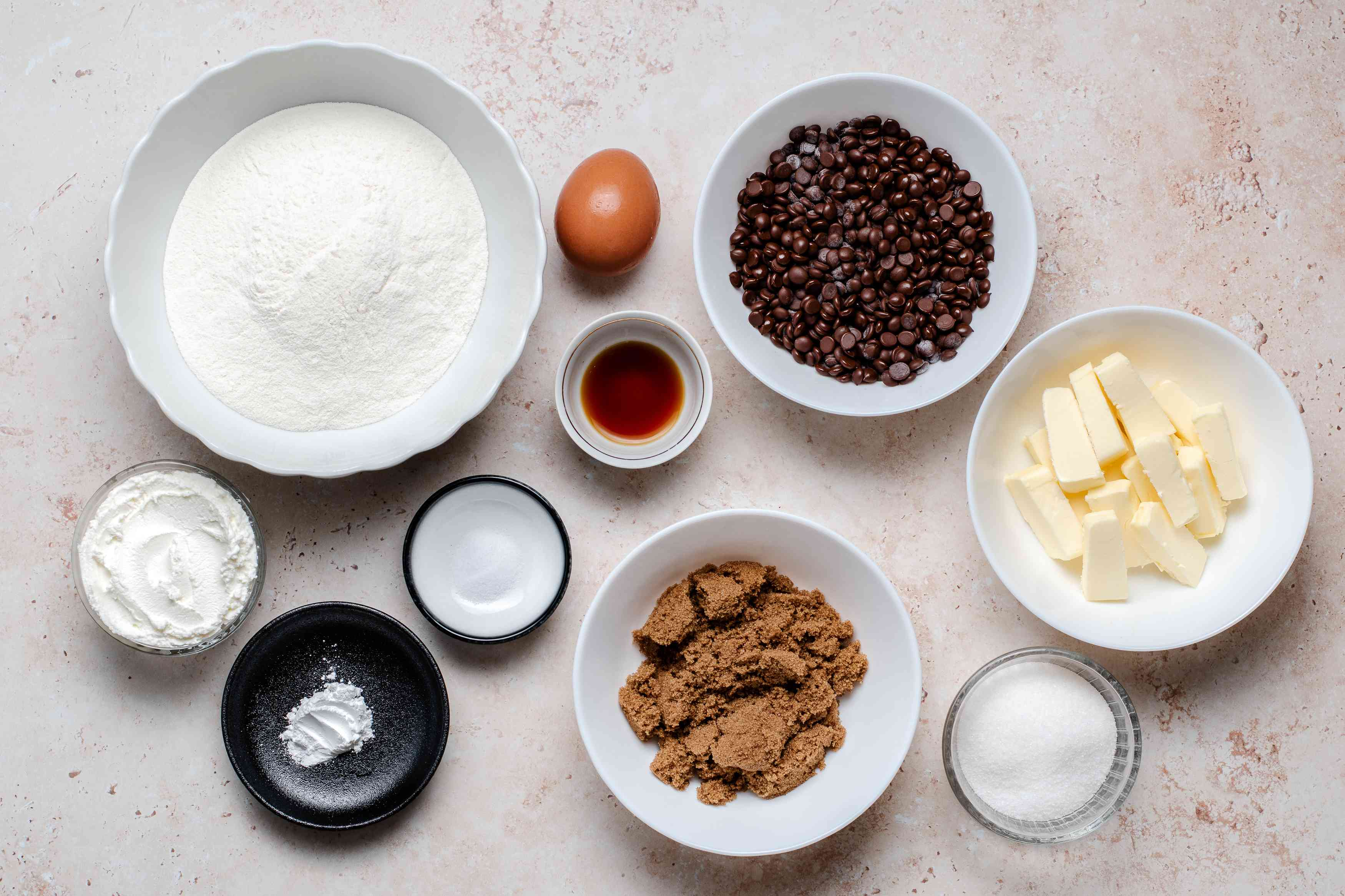 Cream Cheese Chocolate Chip Cookies ingredients