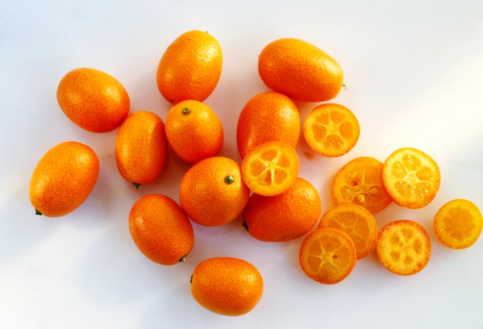 Nagami kumquats, whole and halved