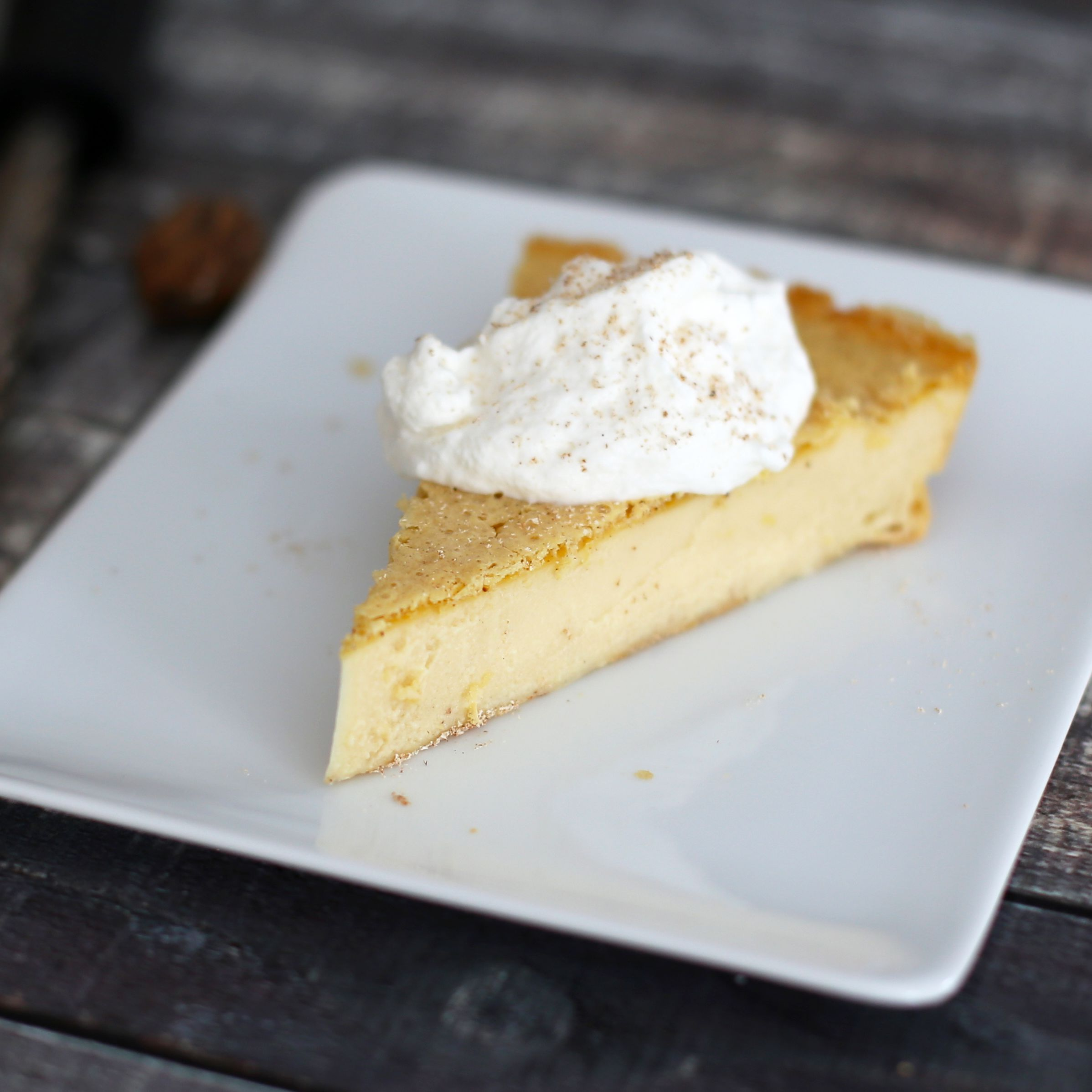 Easy No Crust Custard Pie Recipe