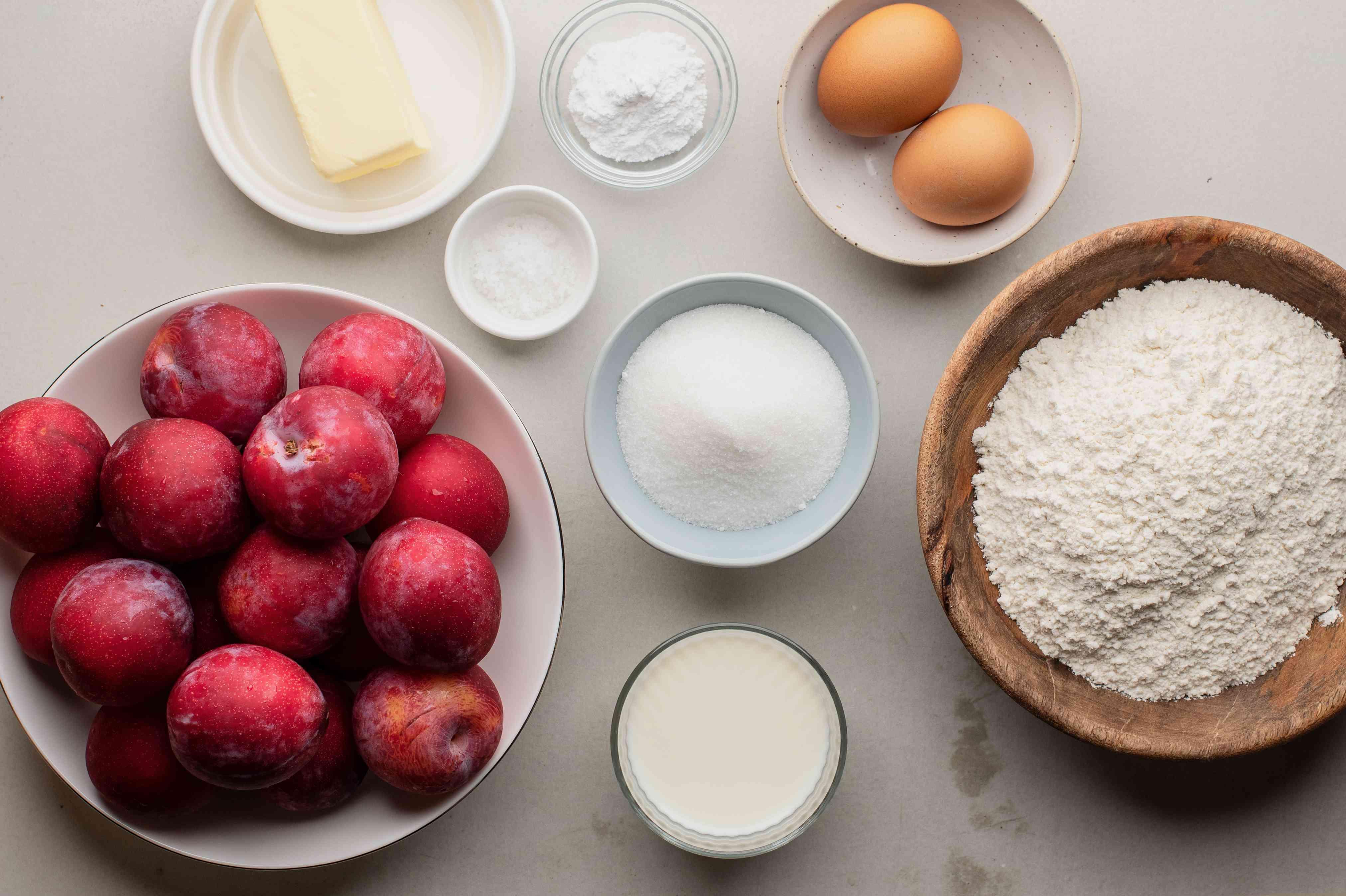 Ingredients for Polish plum cake recipe