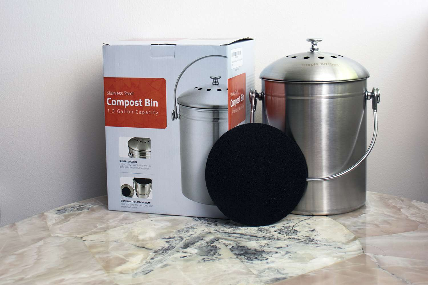 Utopia Kitchen Stainless Steel Compost Bin Review