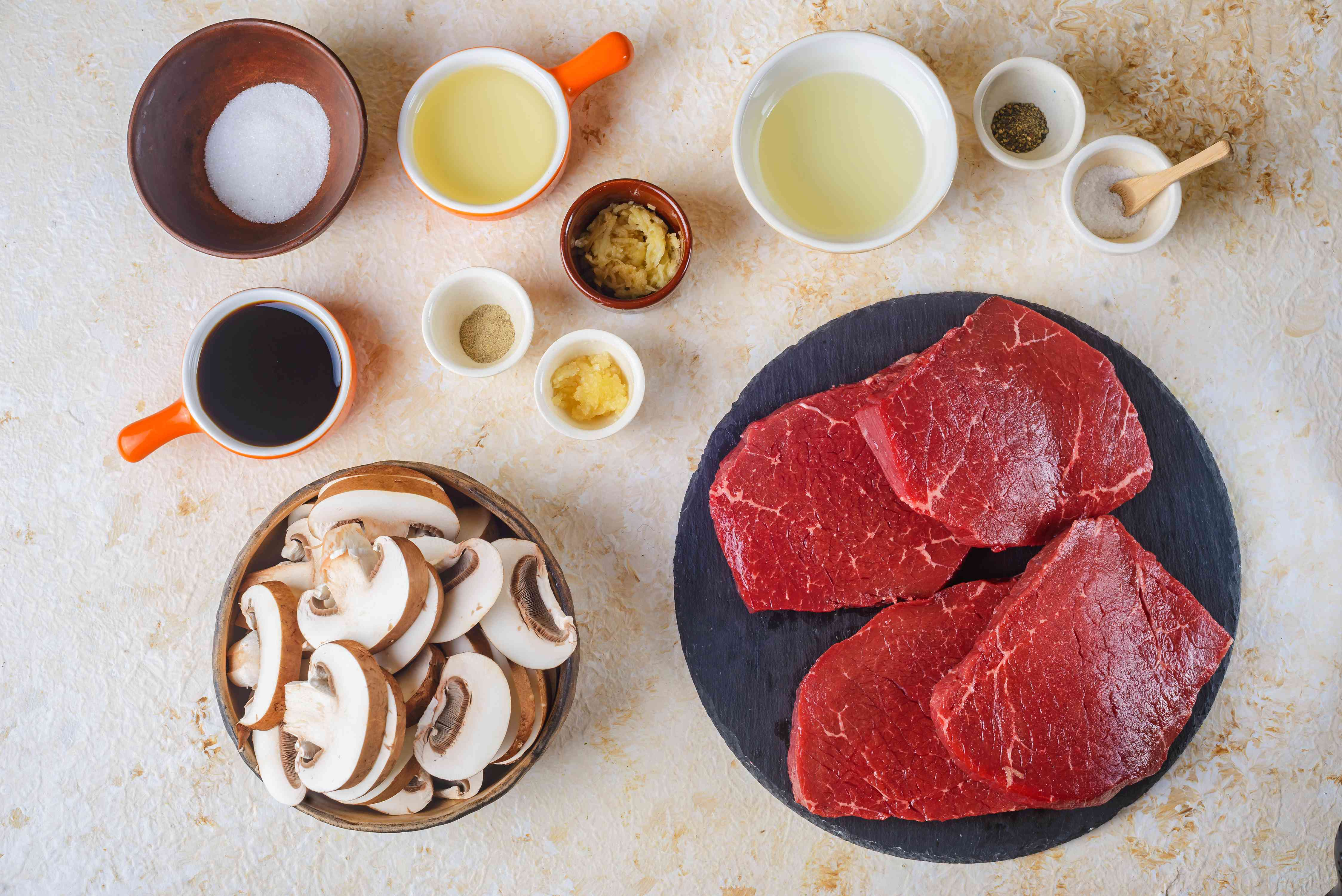 Ingredients for hibachi-style steak