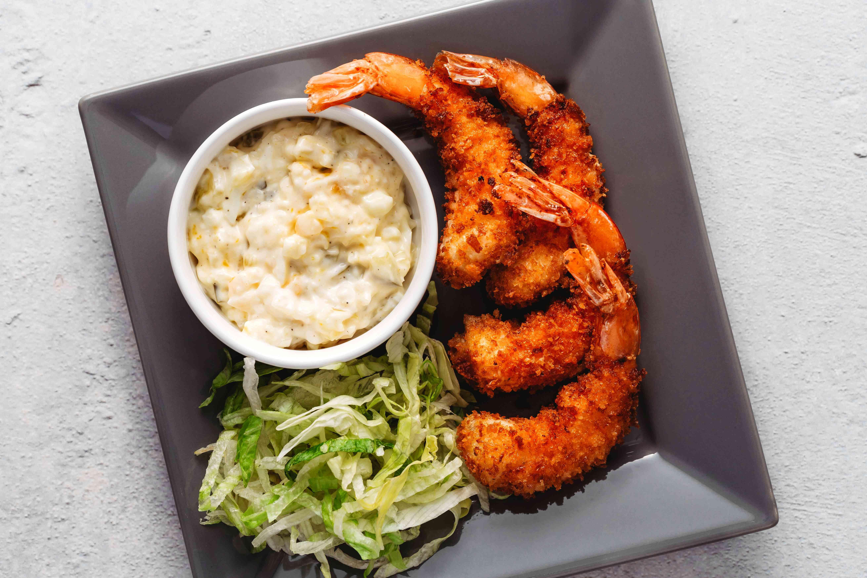 Ebi Fry (Fried Shrimp) with a side of sauce