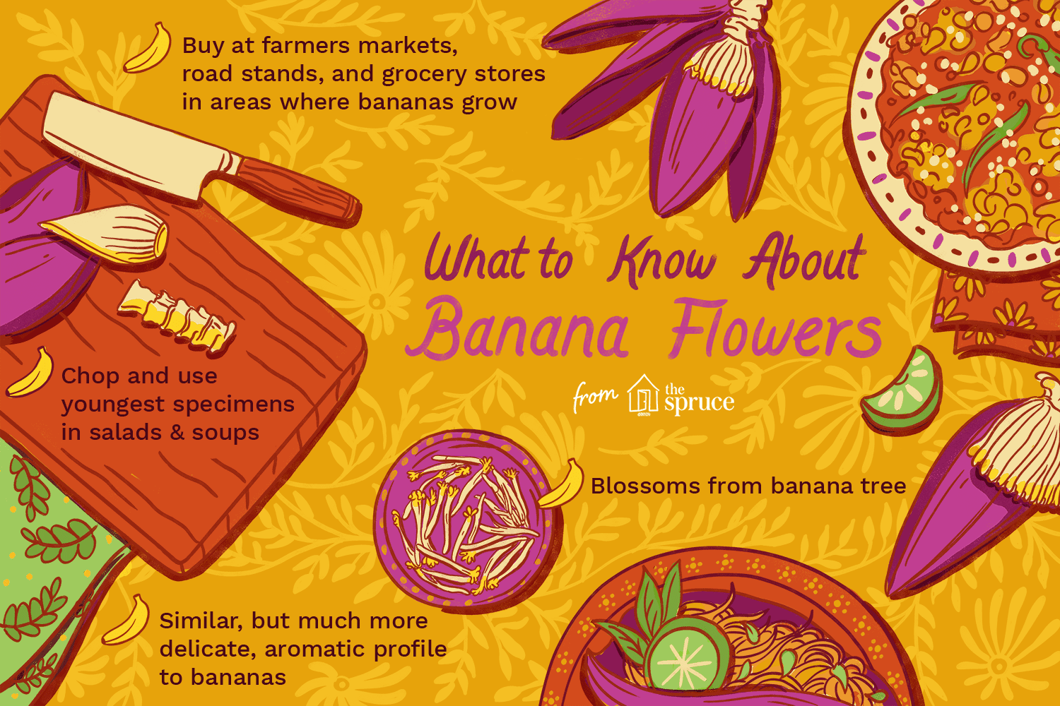 Information about banana flowers, how to buy, what they are, and what they taste like