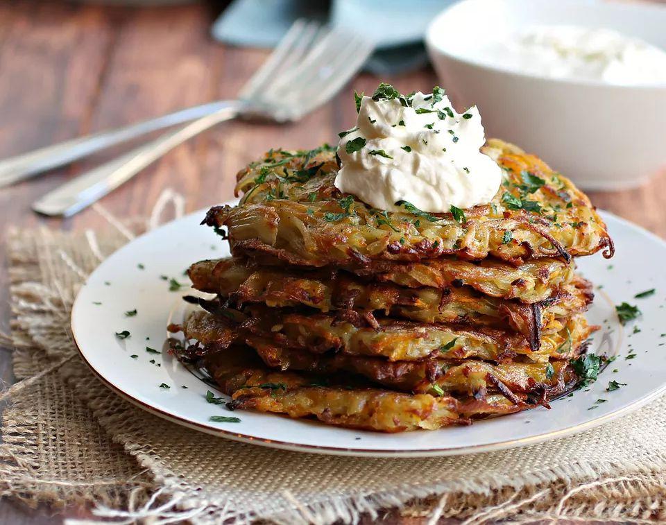 Potato and butternut squash latkes