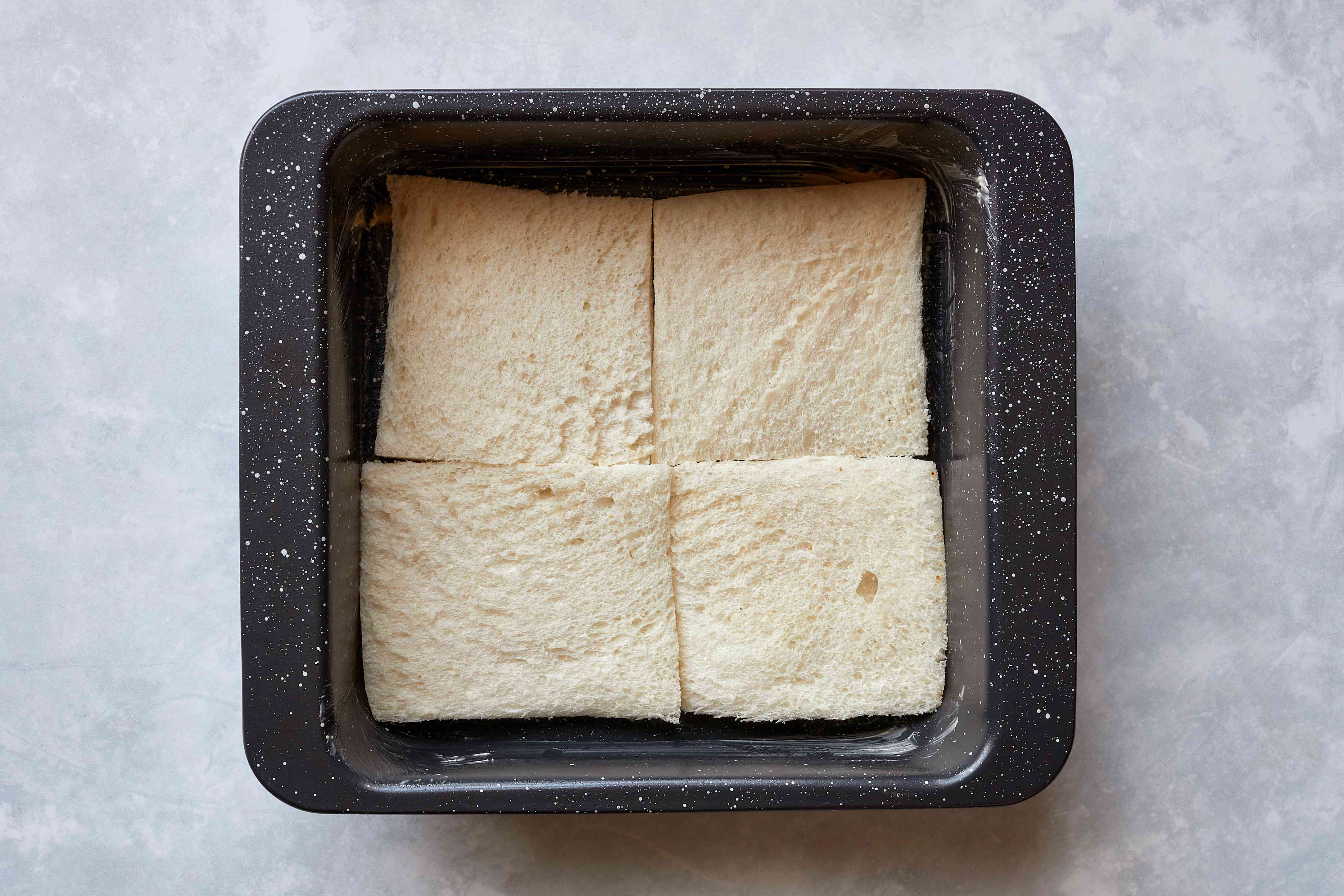 white bread in a baking dish