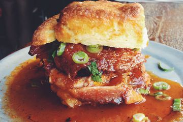 Fried Chicken and Biscuit