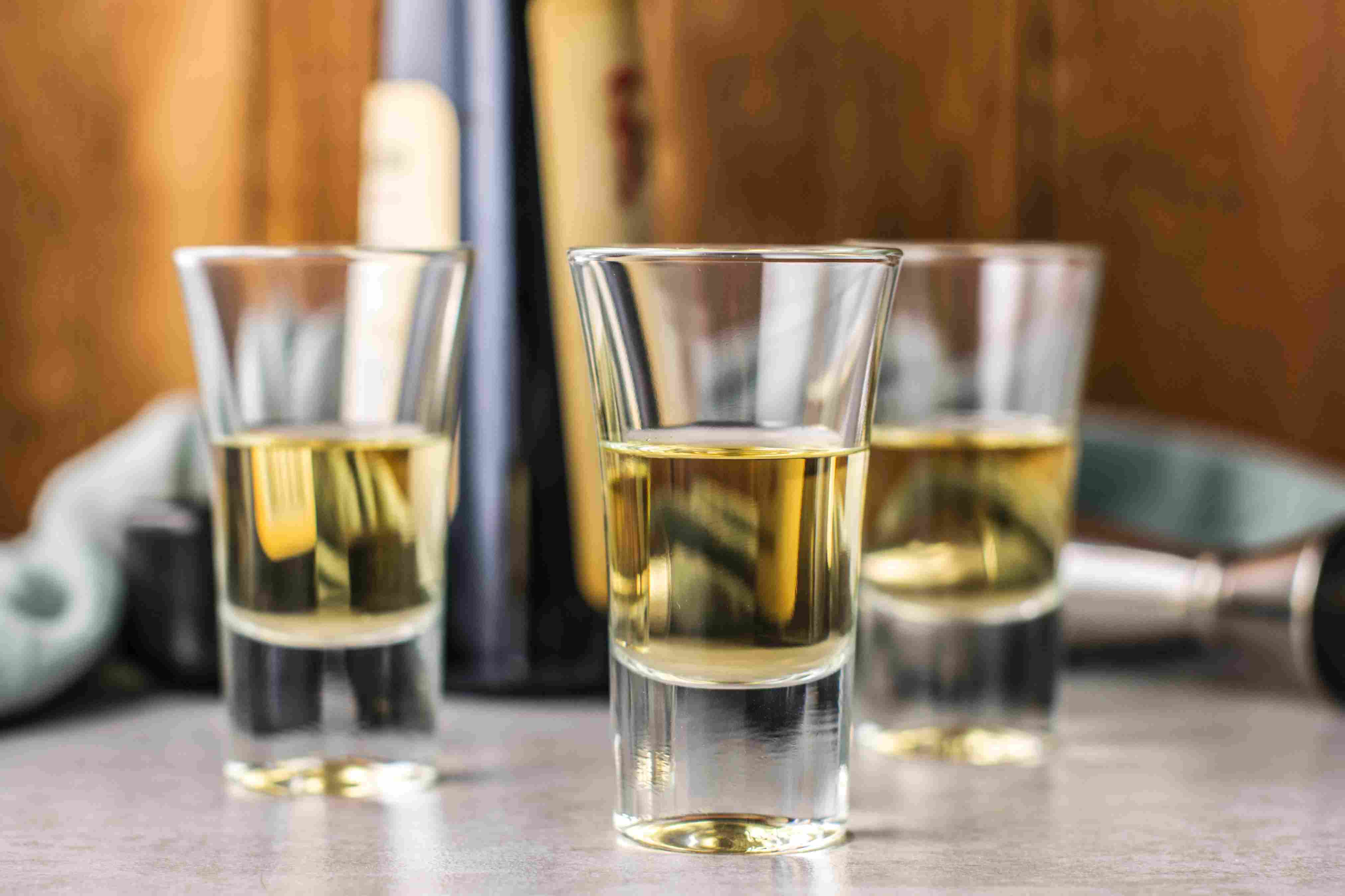 Pour the Frangelico into a shot glass