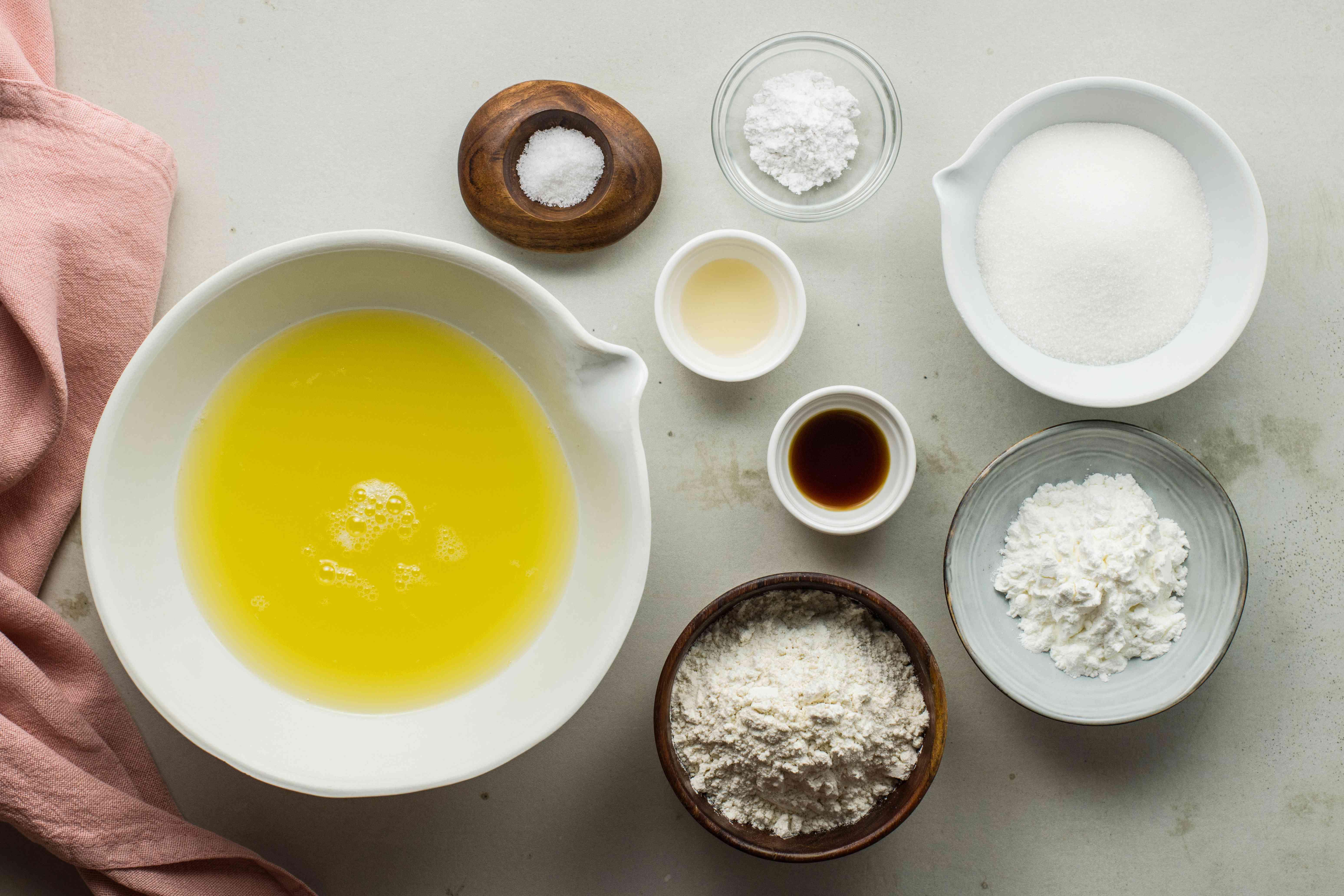 Ingredients for cake batter