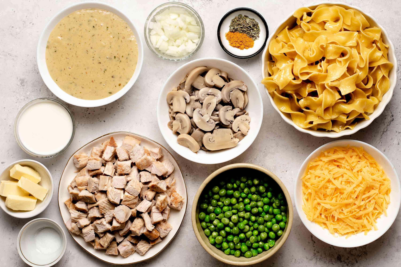 Creamy Turkey Noodle Casserole ingredients