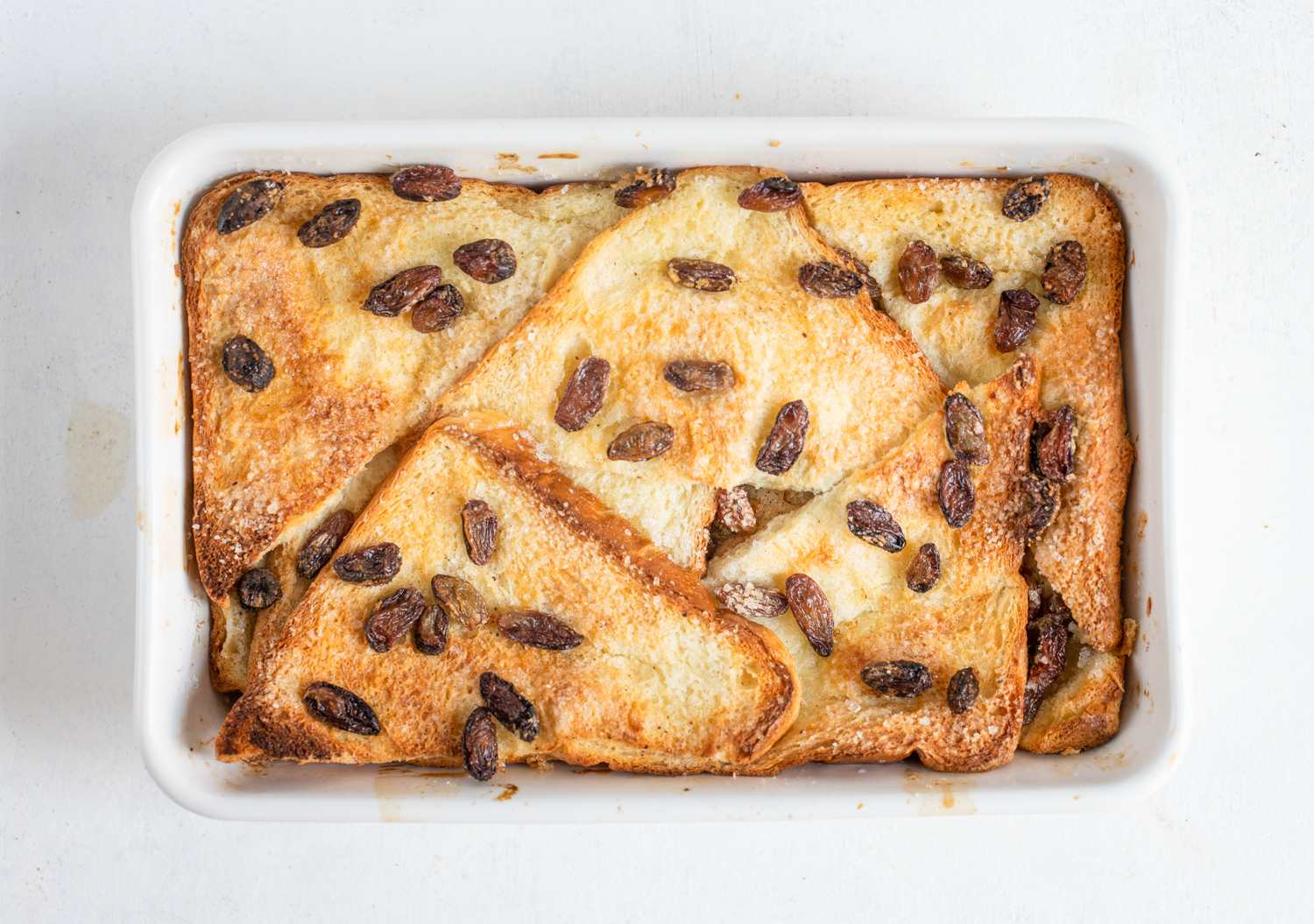 Cooked bread and butter pudding