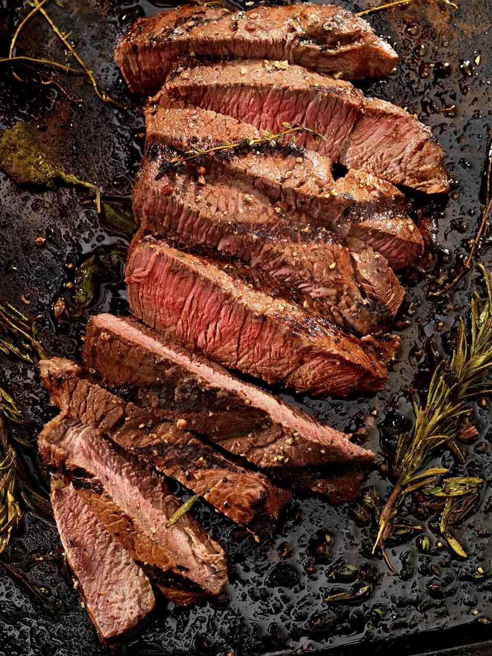 Fajita-style New York strip steaks