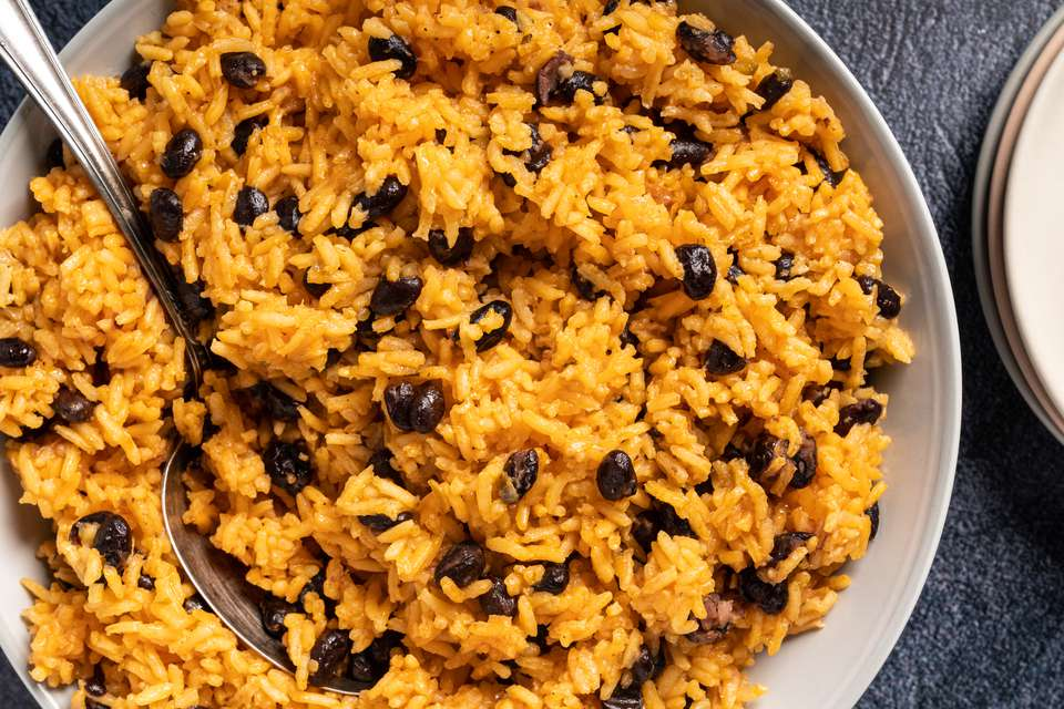 Caribbean-Style Black Beans and Yellow Rice