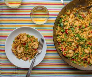 Seafood dinner recipes simple shrimp scampi paella forumfinder Image collections
