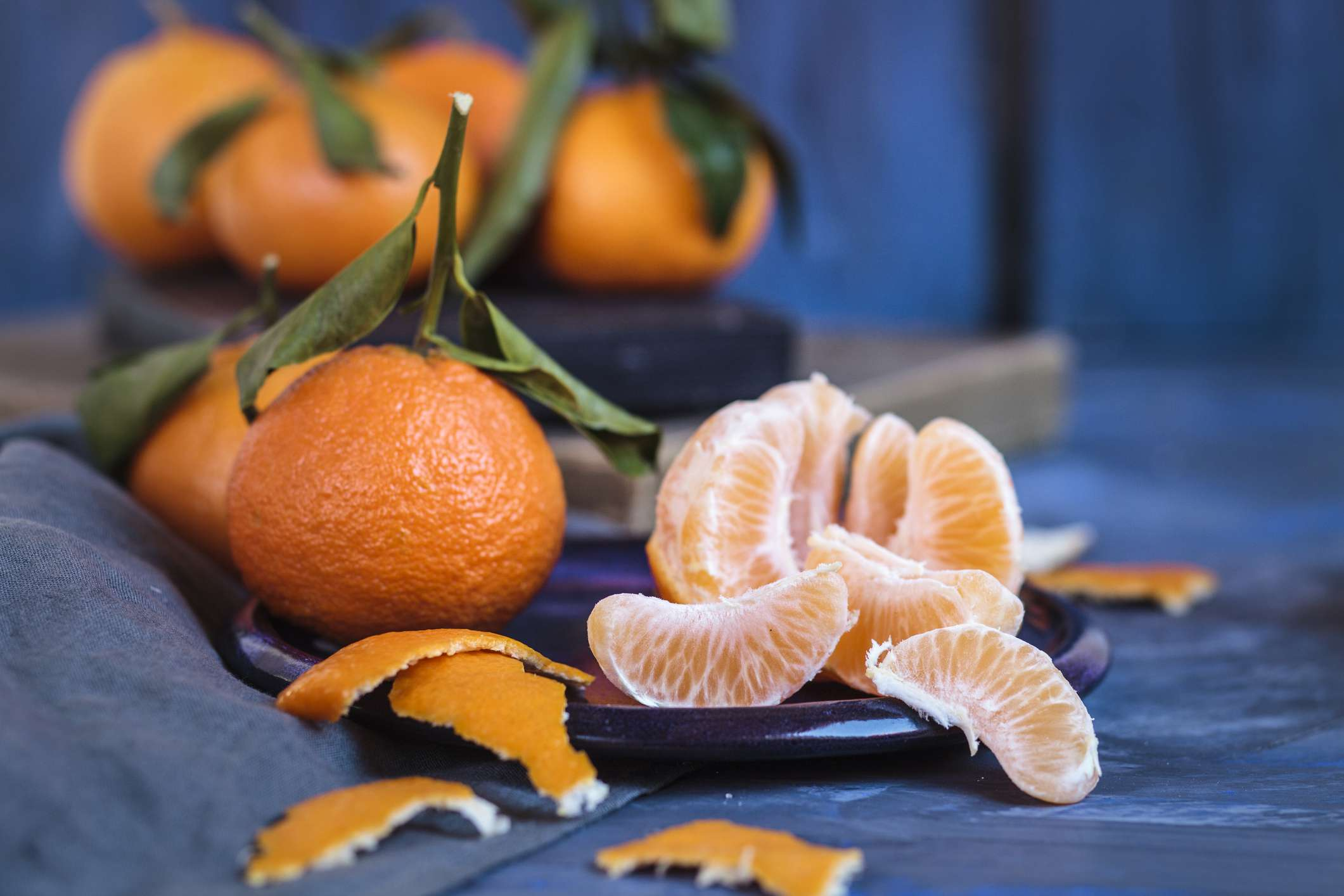 A group of clementines