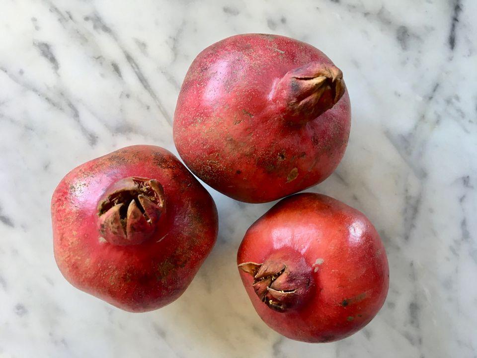 Fresh whole pomegranates