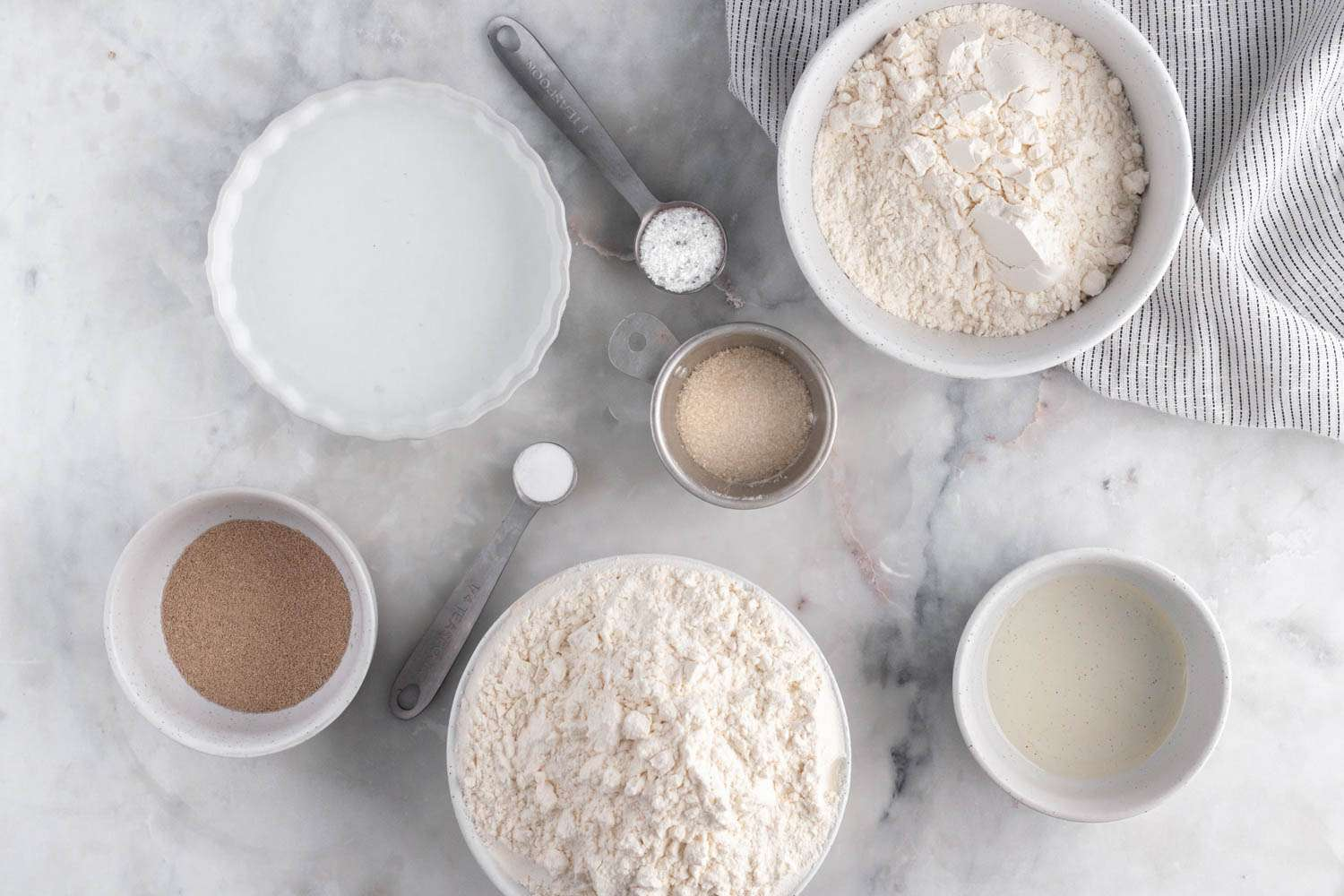 Ingredients for making bread machine country white bread