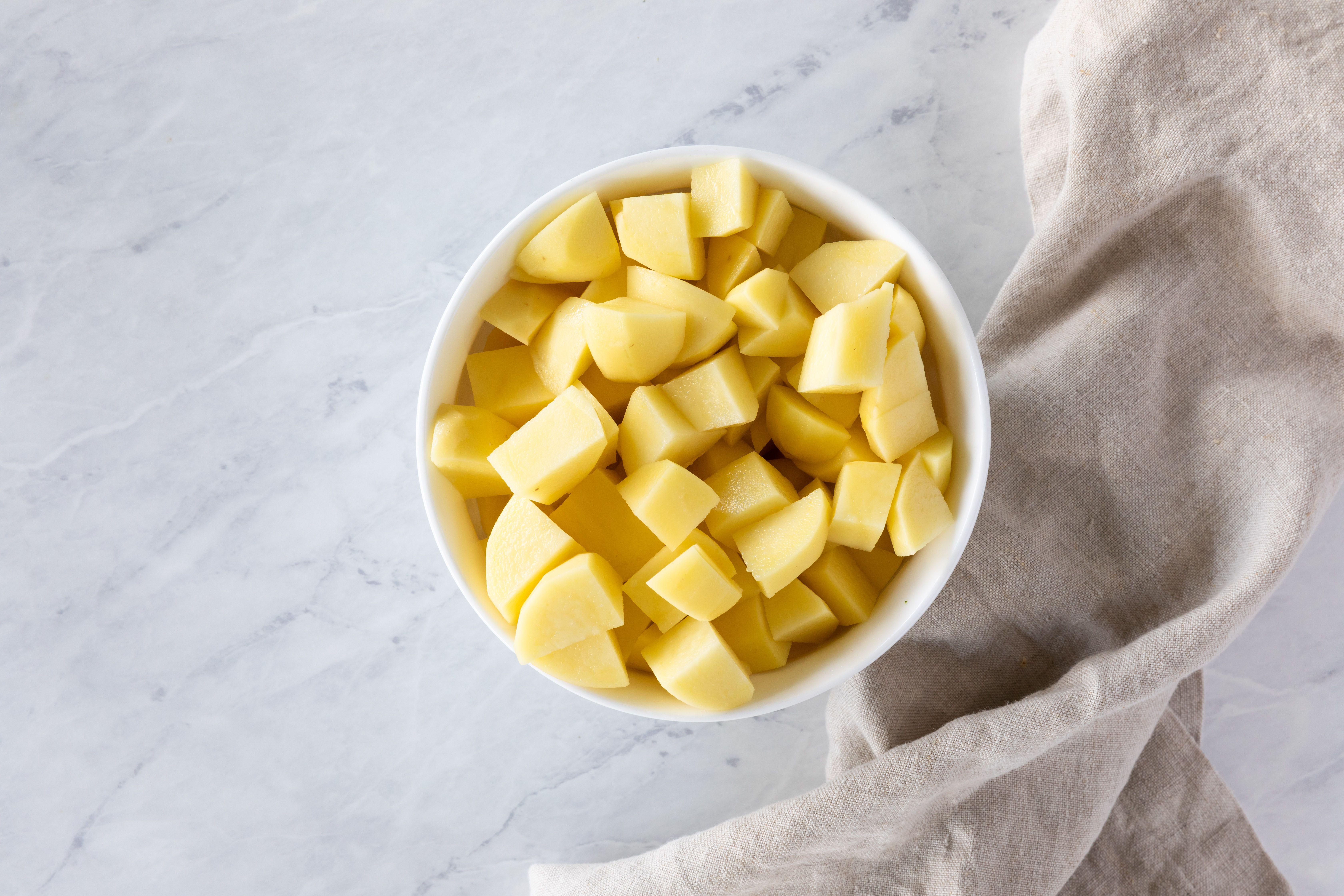 Cube potatoes