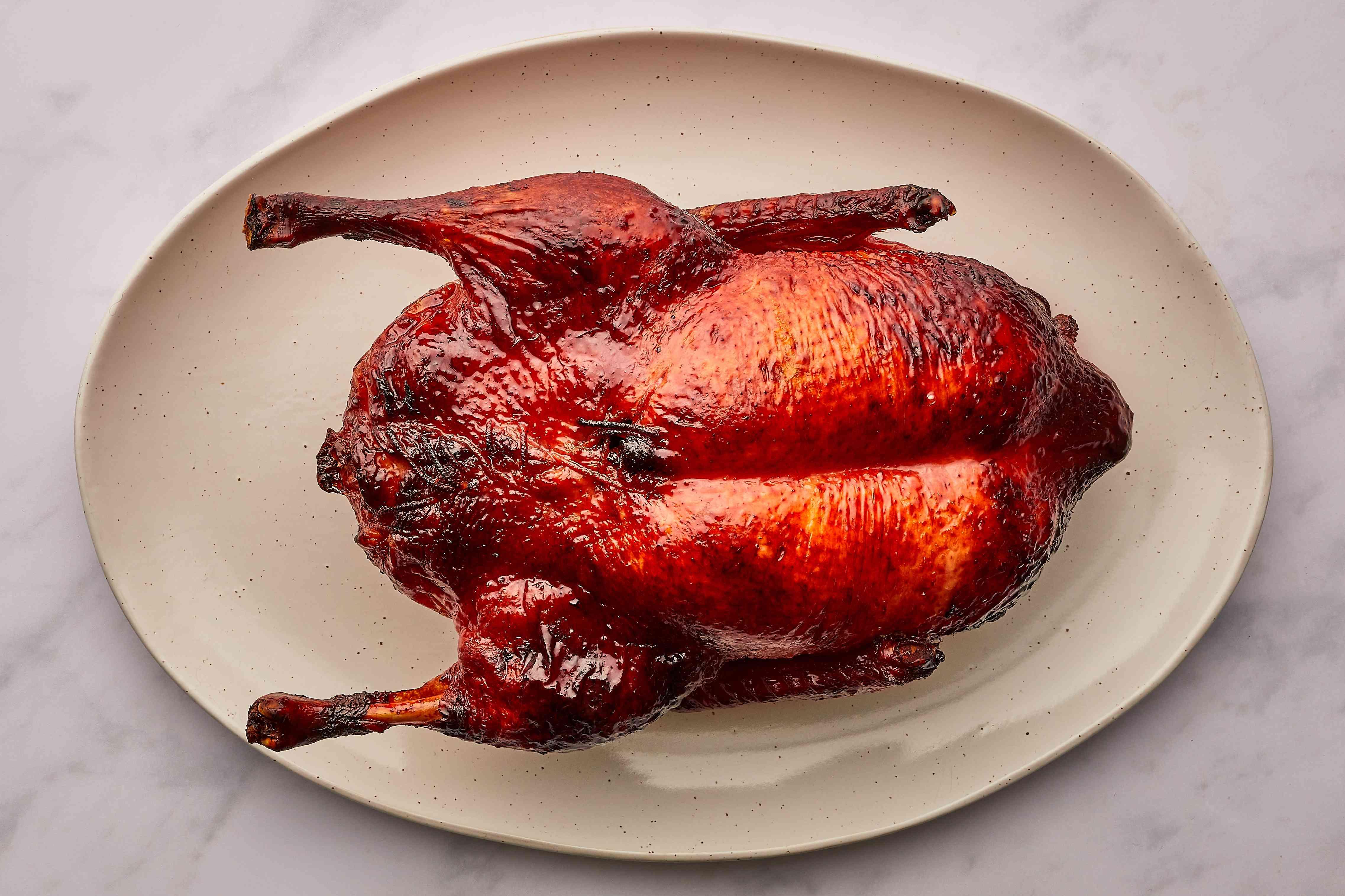 Cantonese Roast Duck on a plate