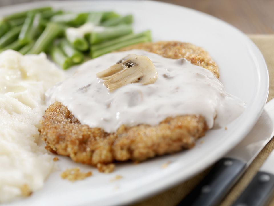 Turkey cutlet with mushroom sauce