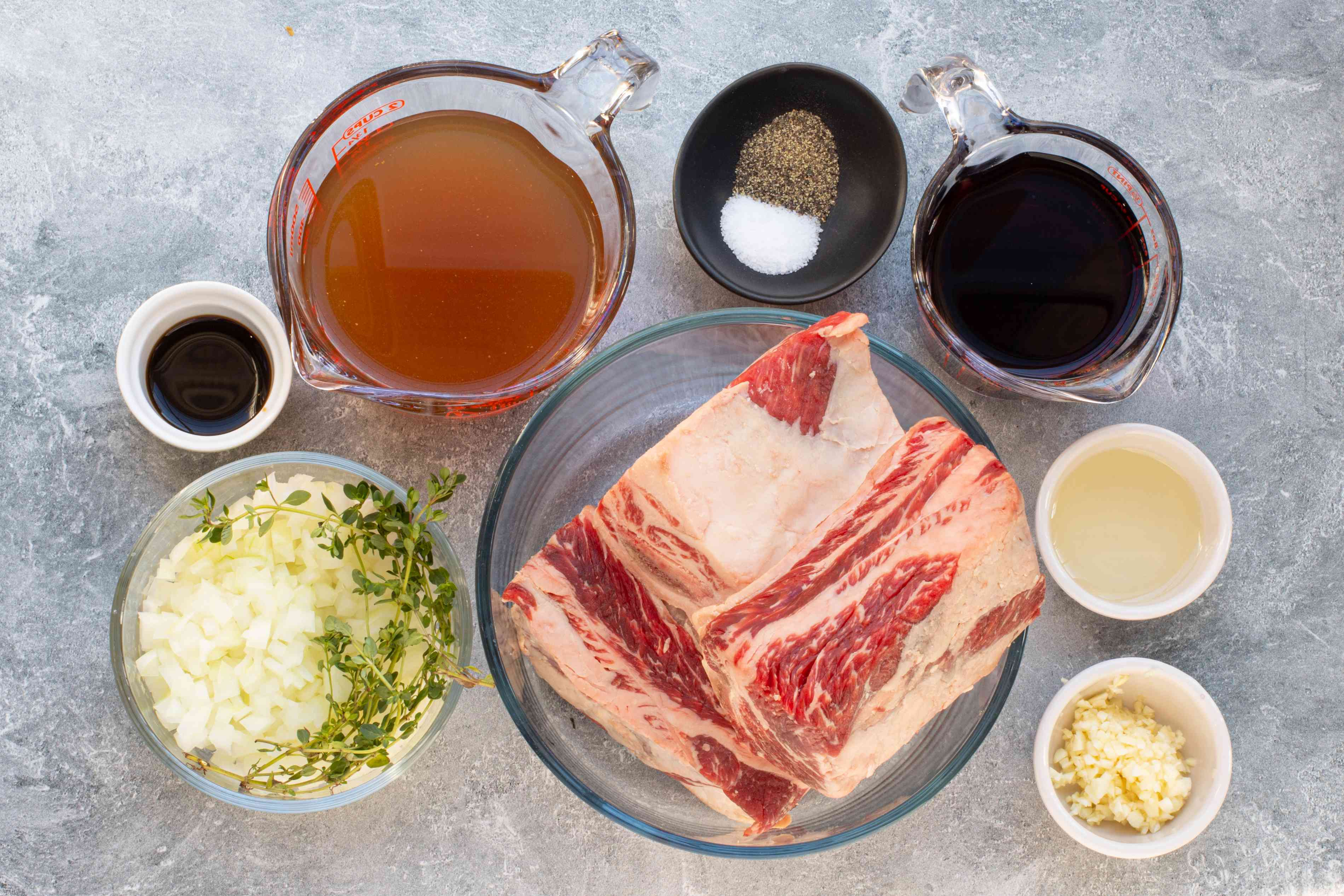 ingredients for oven braised short ribs